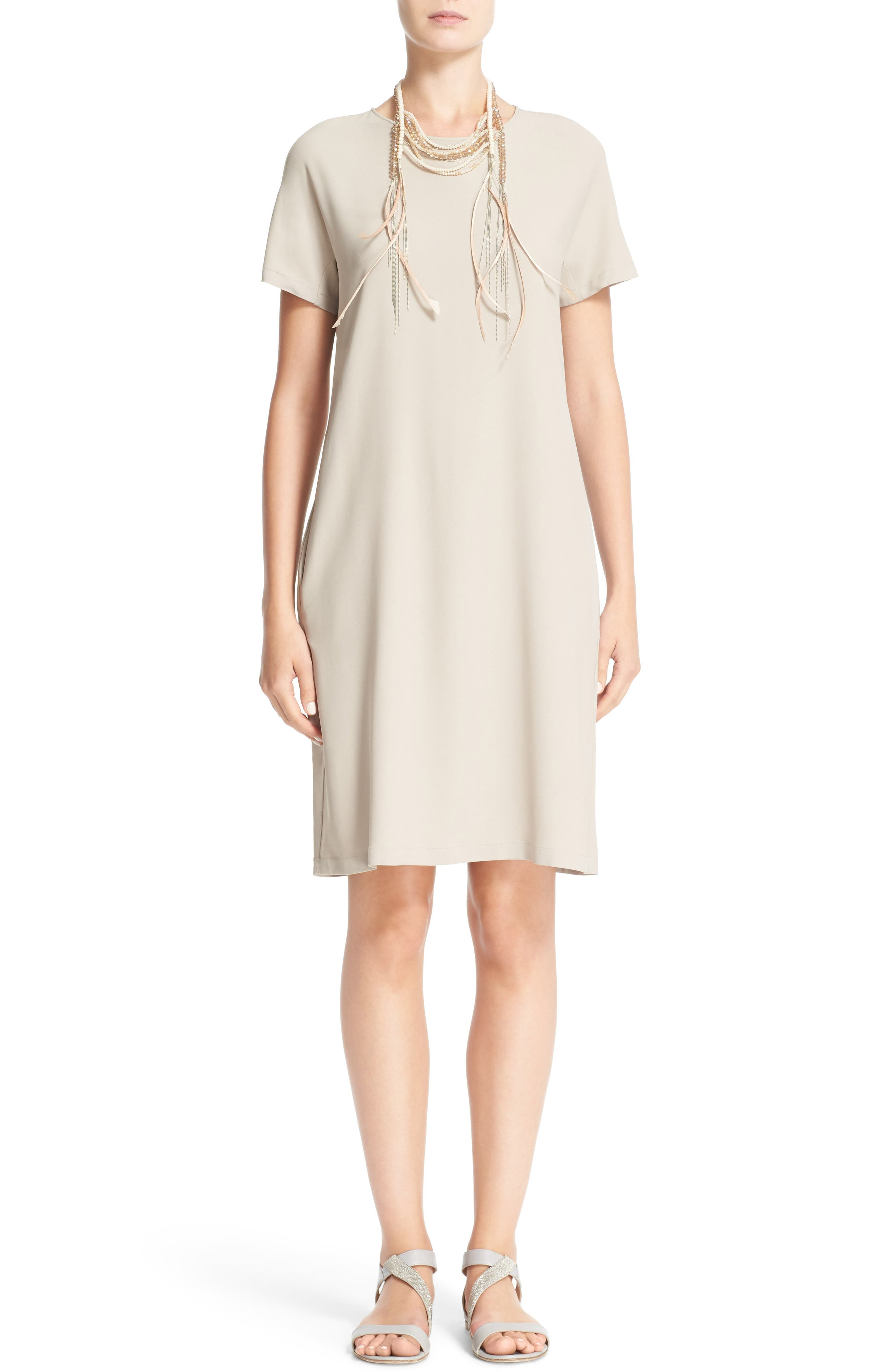 Stretch Cotton Poplin Dress,                             Main thumbnail 1, color,                             250
