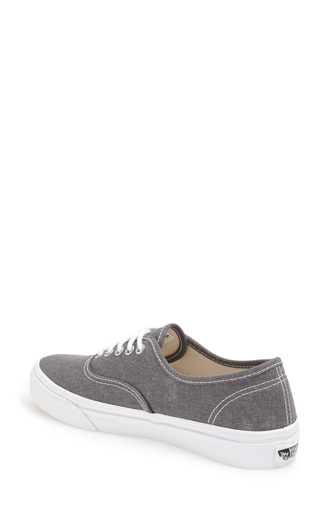 'Authentic - Slim' Washed Sneaker,                             Alternate thumbnail 2, color,                             020