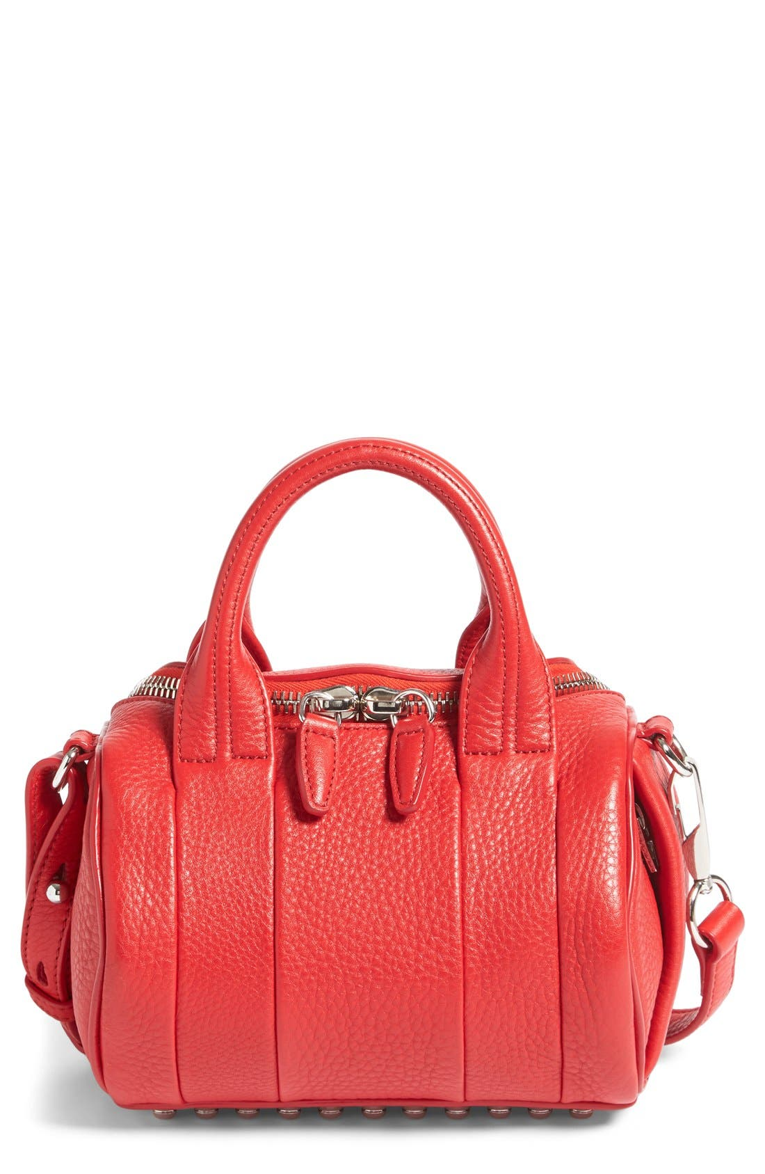 'Mini Rockie - Nickel' Leather Crossbody Satchel,                             Main thumbnail 2, color,
