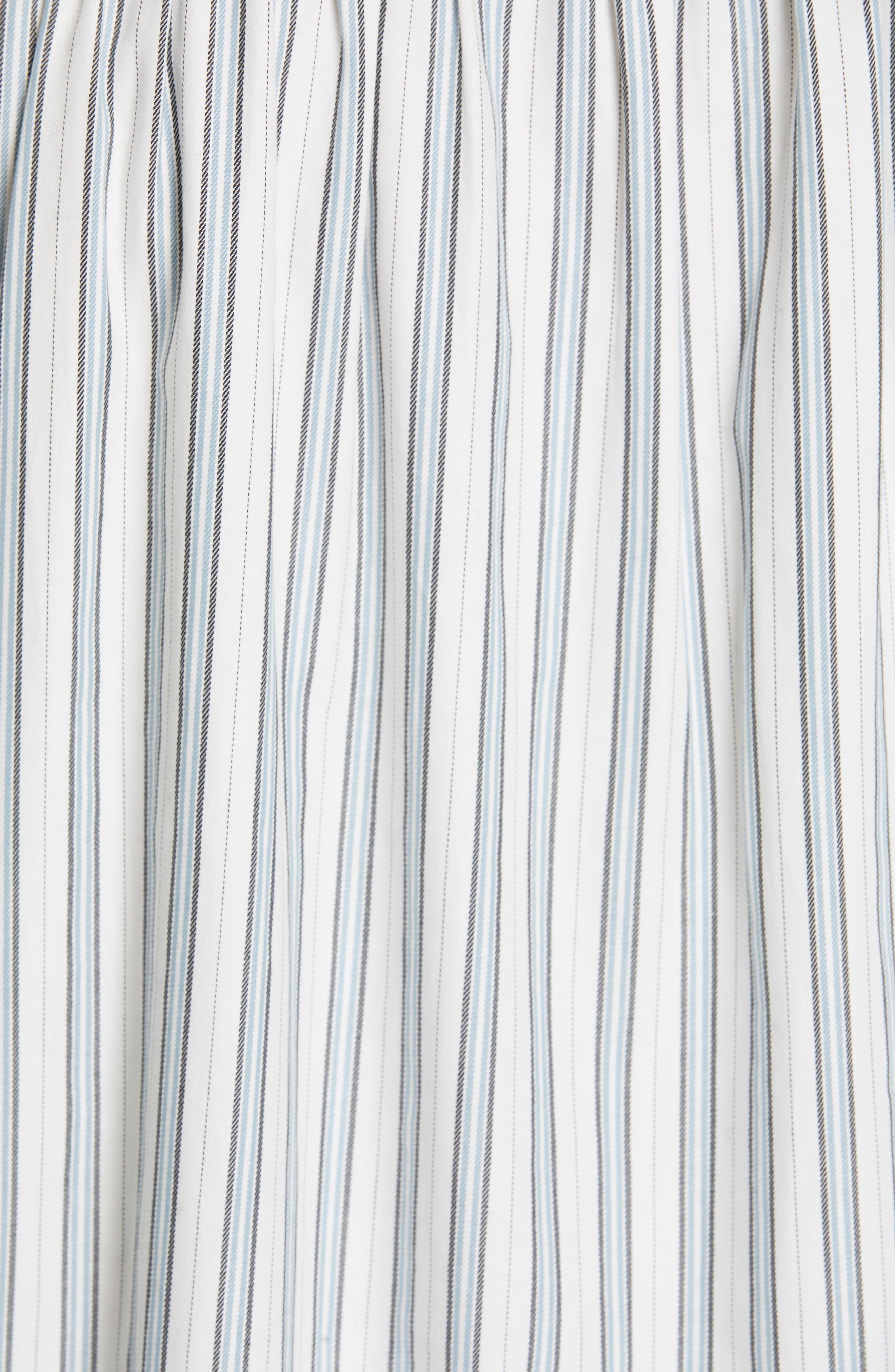 Jacquita Stripe Top,                             Alternate thumbnail 5, color,                             100