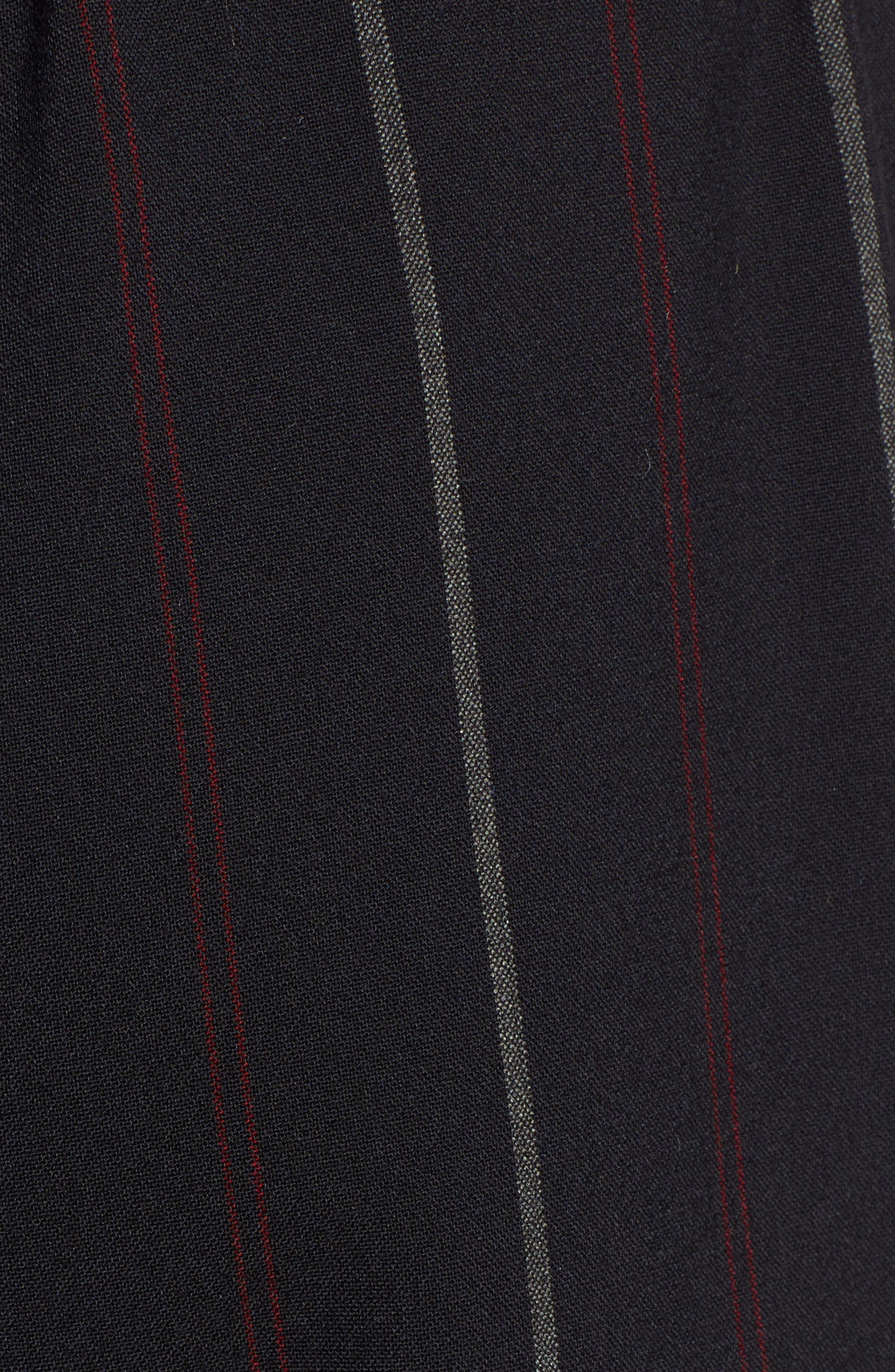 Wide Leg Track Pants,                             Alternate thumbnail 5, color,                             BLACK SHIRLIE STRIPE