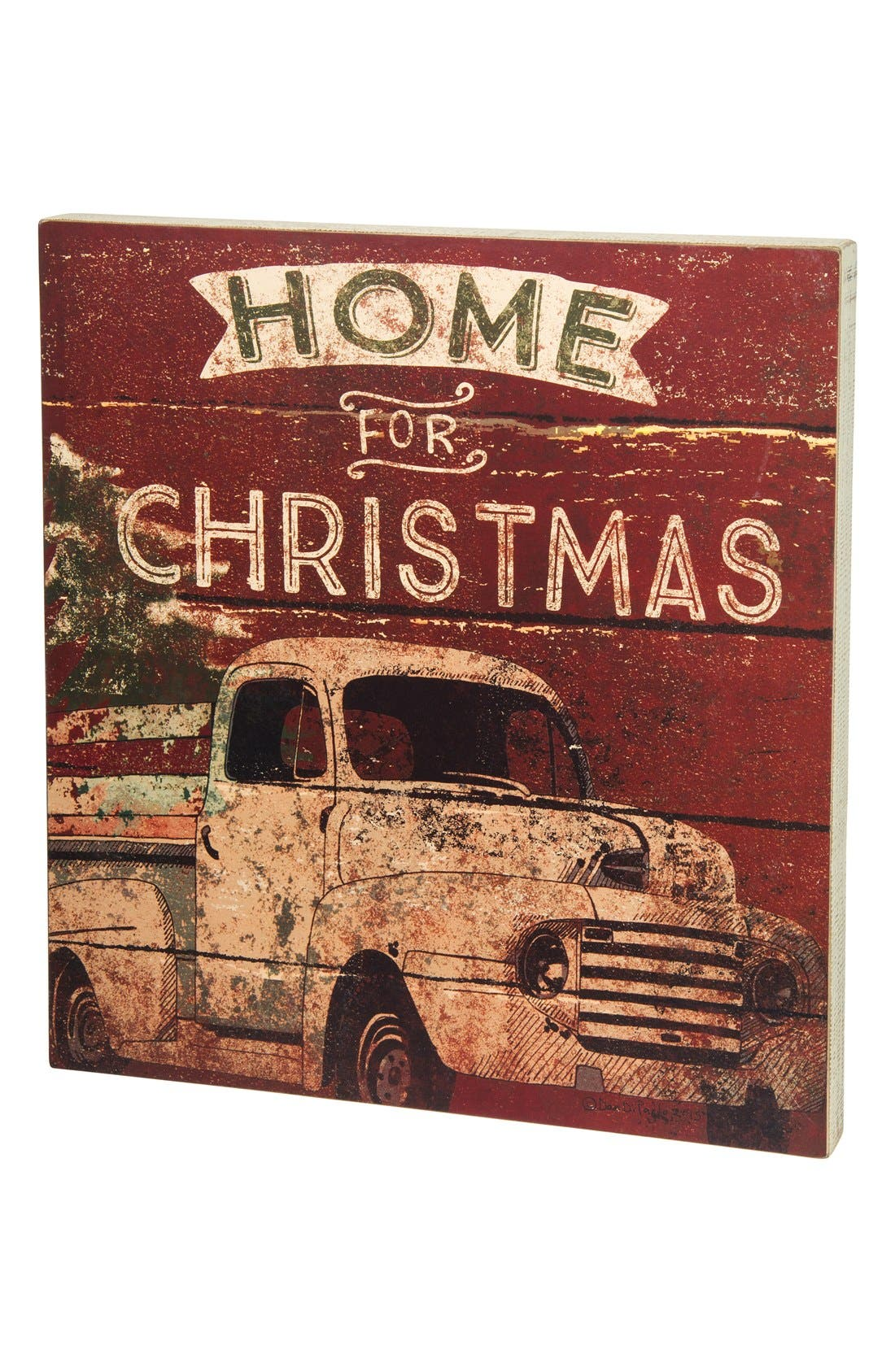 'Home for Christmas' Box Sign,                         Main,                         color, 600
