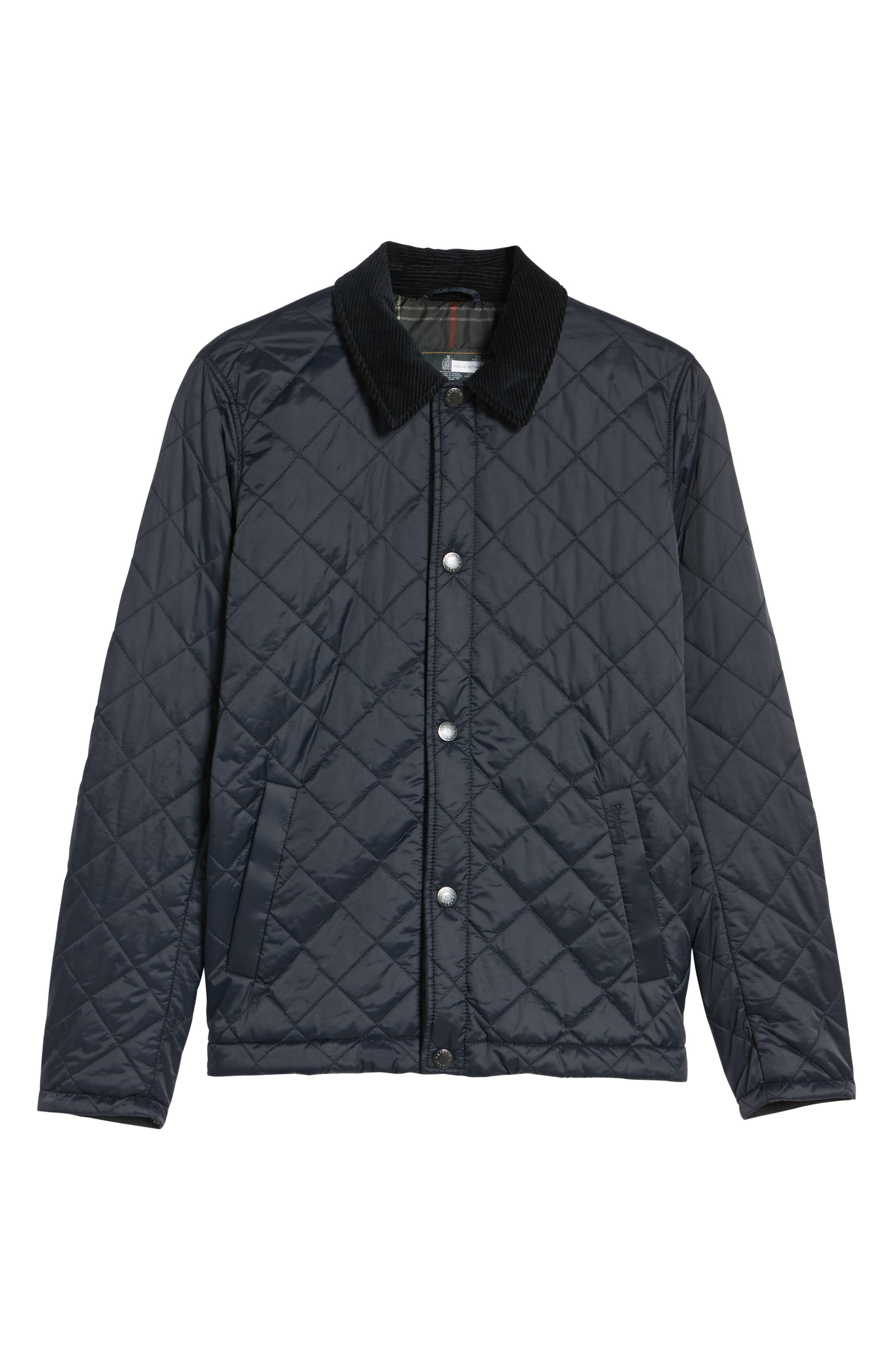 Holme Quilted Water-Resistant Jacket,                             Alternate thumbnail 6, color,                             NAVY