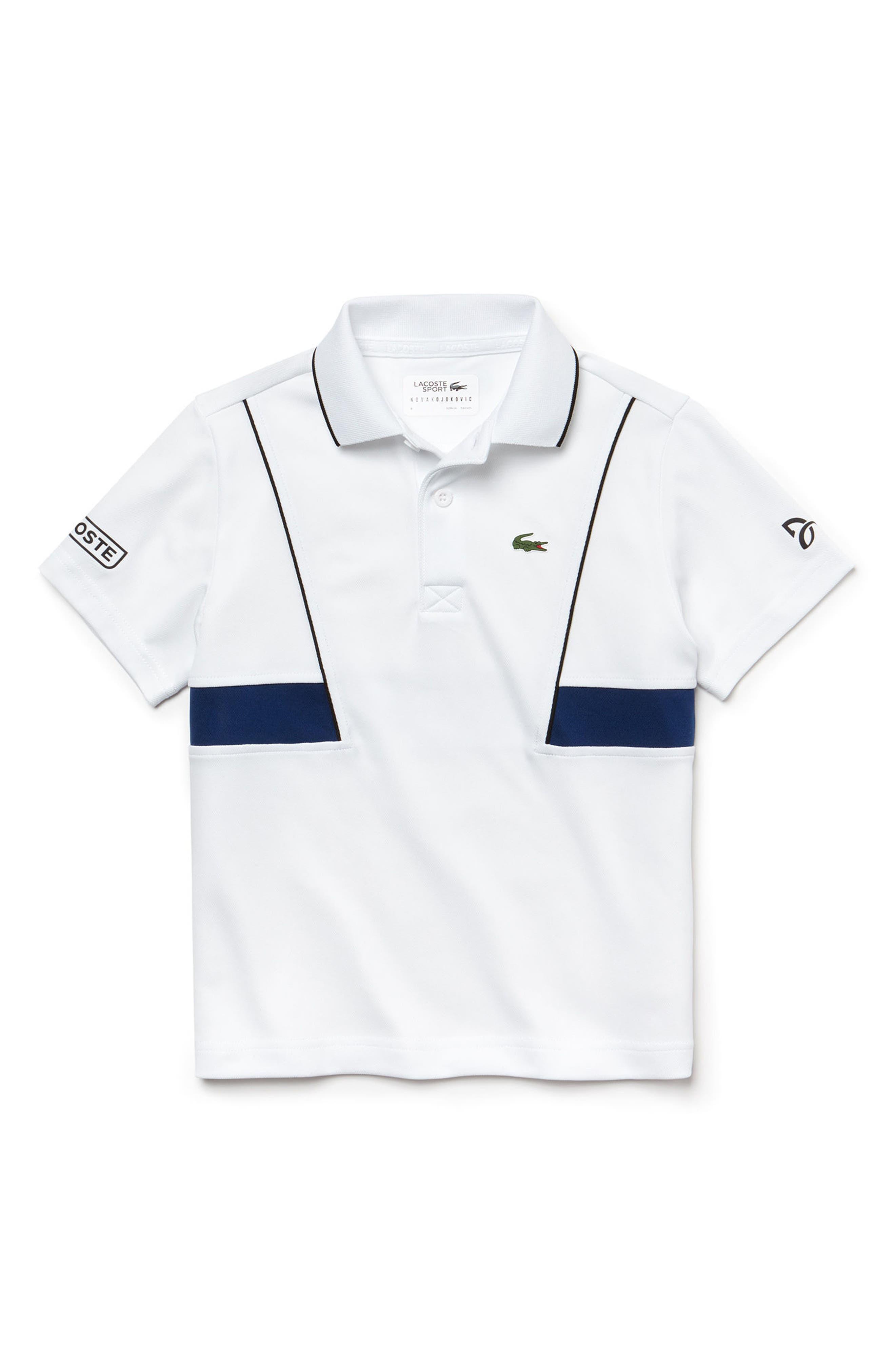 Novak Djokovic Ultra Dry Polo,                             Main thumbnail 1, color,                             100