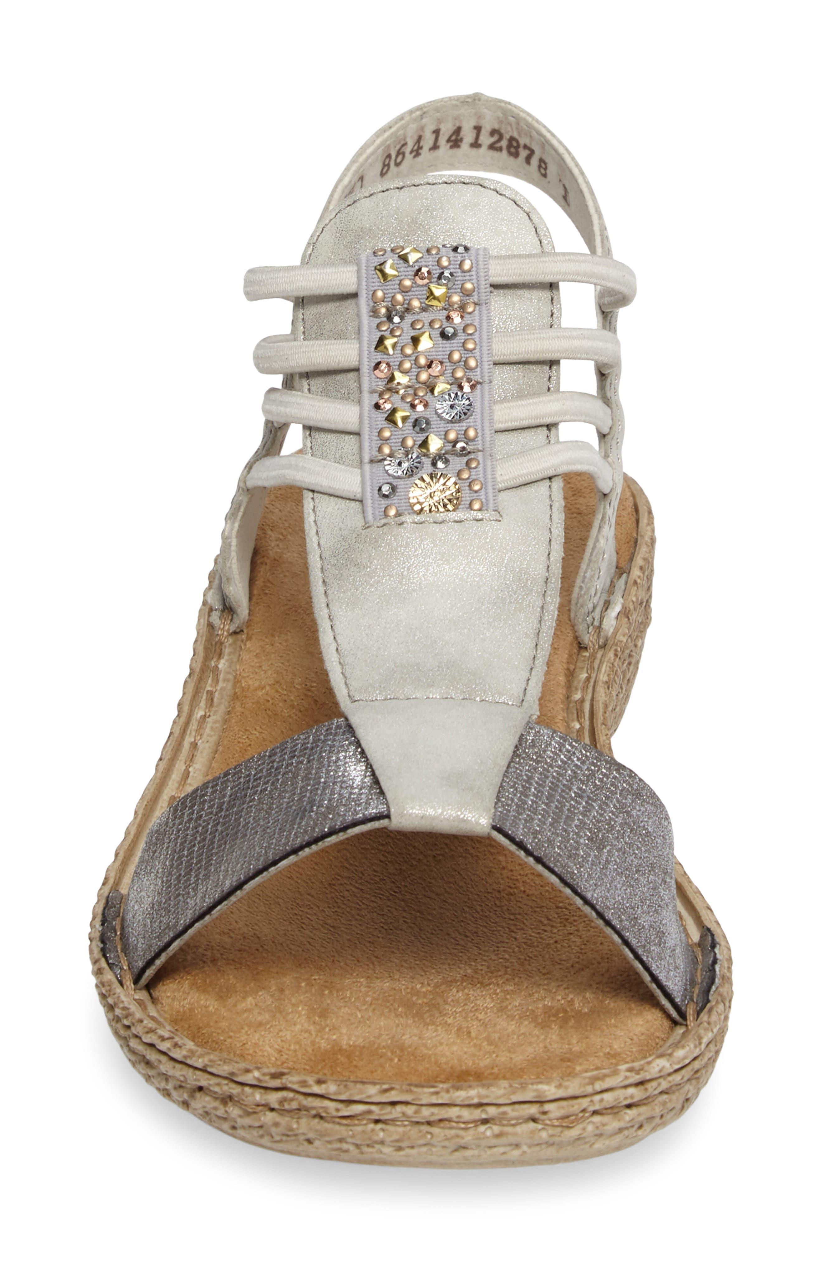 Regina T-Strap Sandal,                             Alternate thumbnail 4, color,                             061