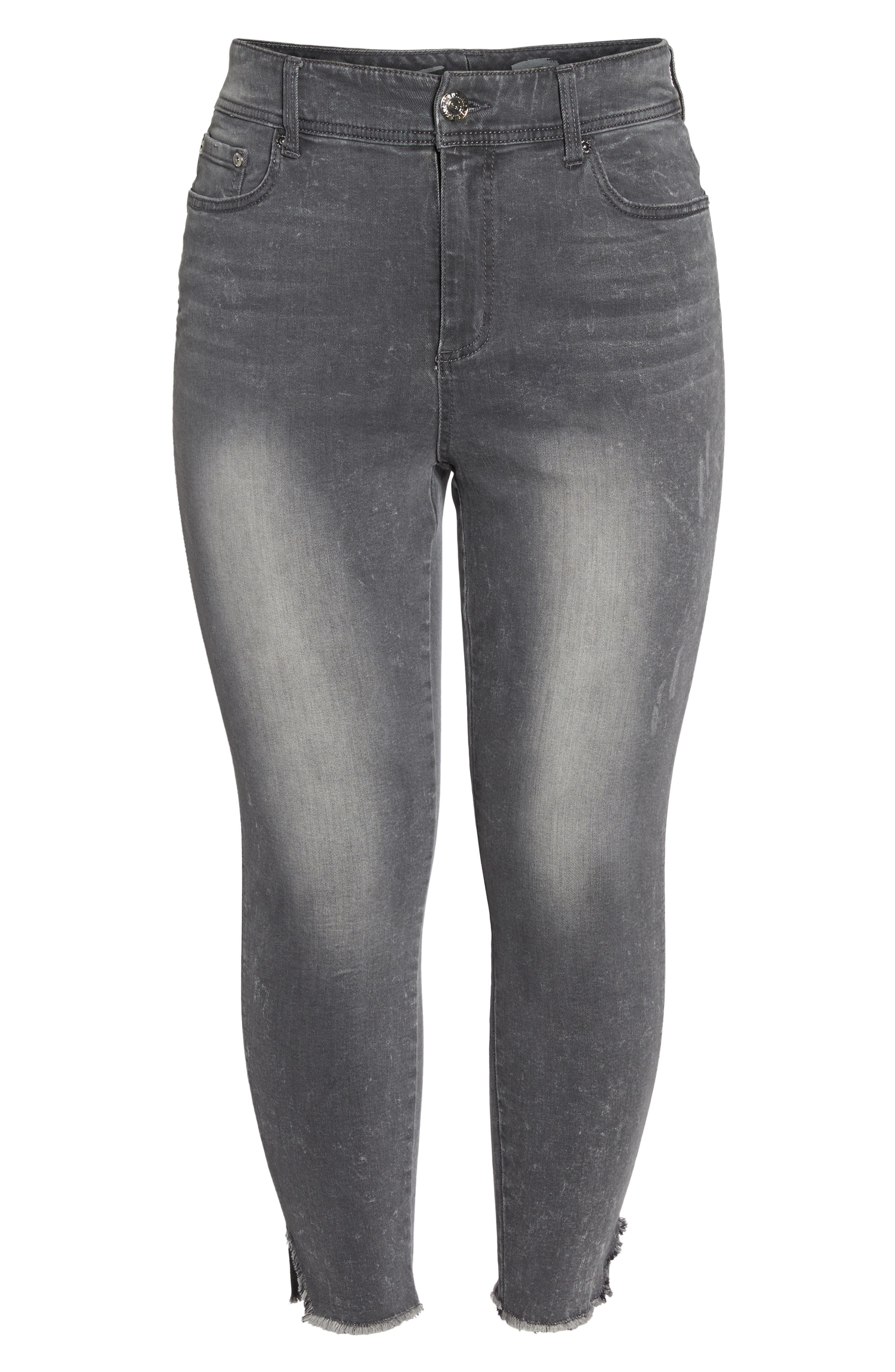 High Waist Ankle Skinny Jeans,                             Alternate thumbnail 6, color,                             039