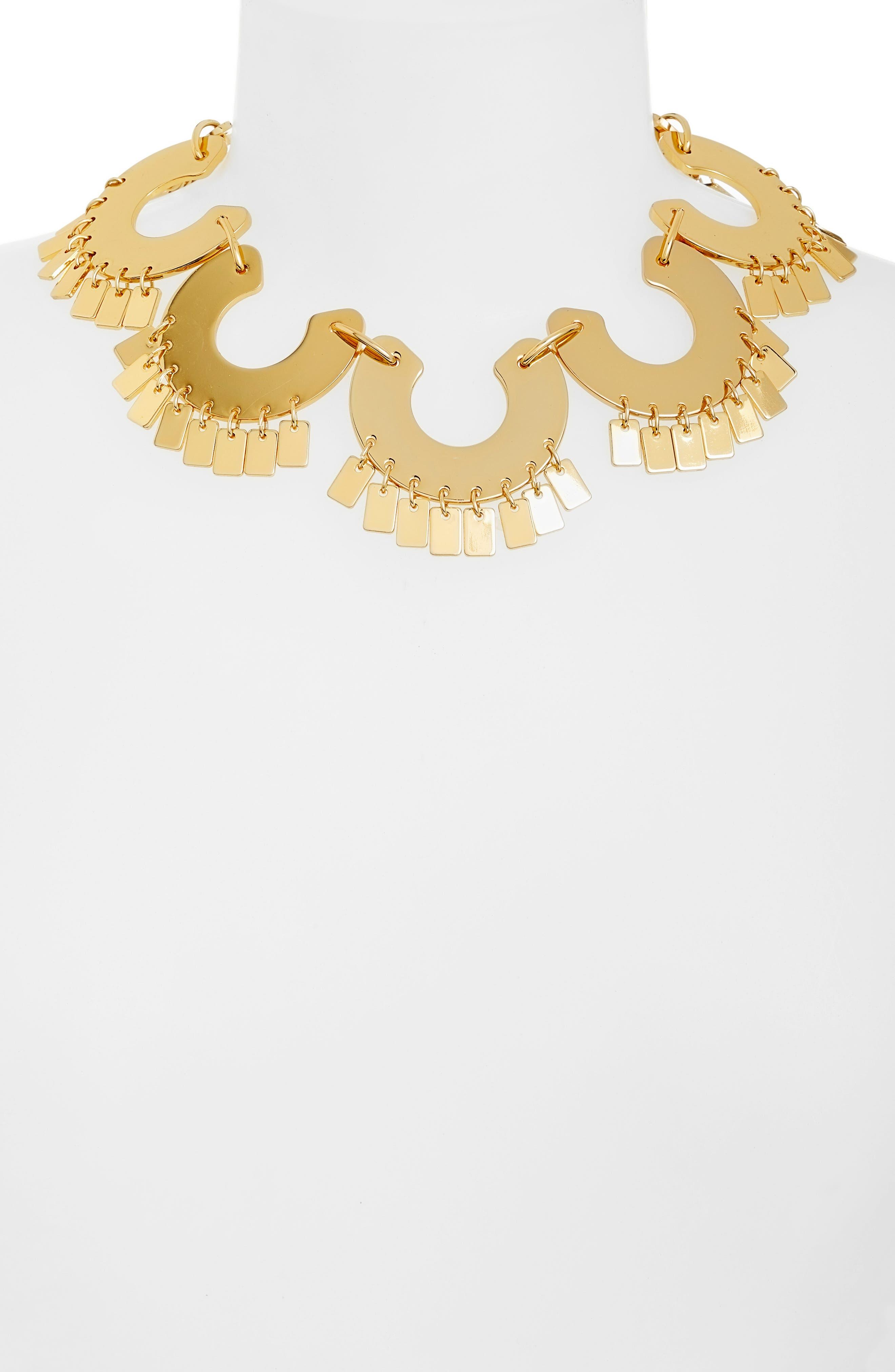 Piñata Collar Necklace,                             Alternate thumbnail 2, color,                             GOLD