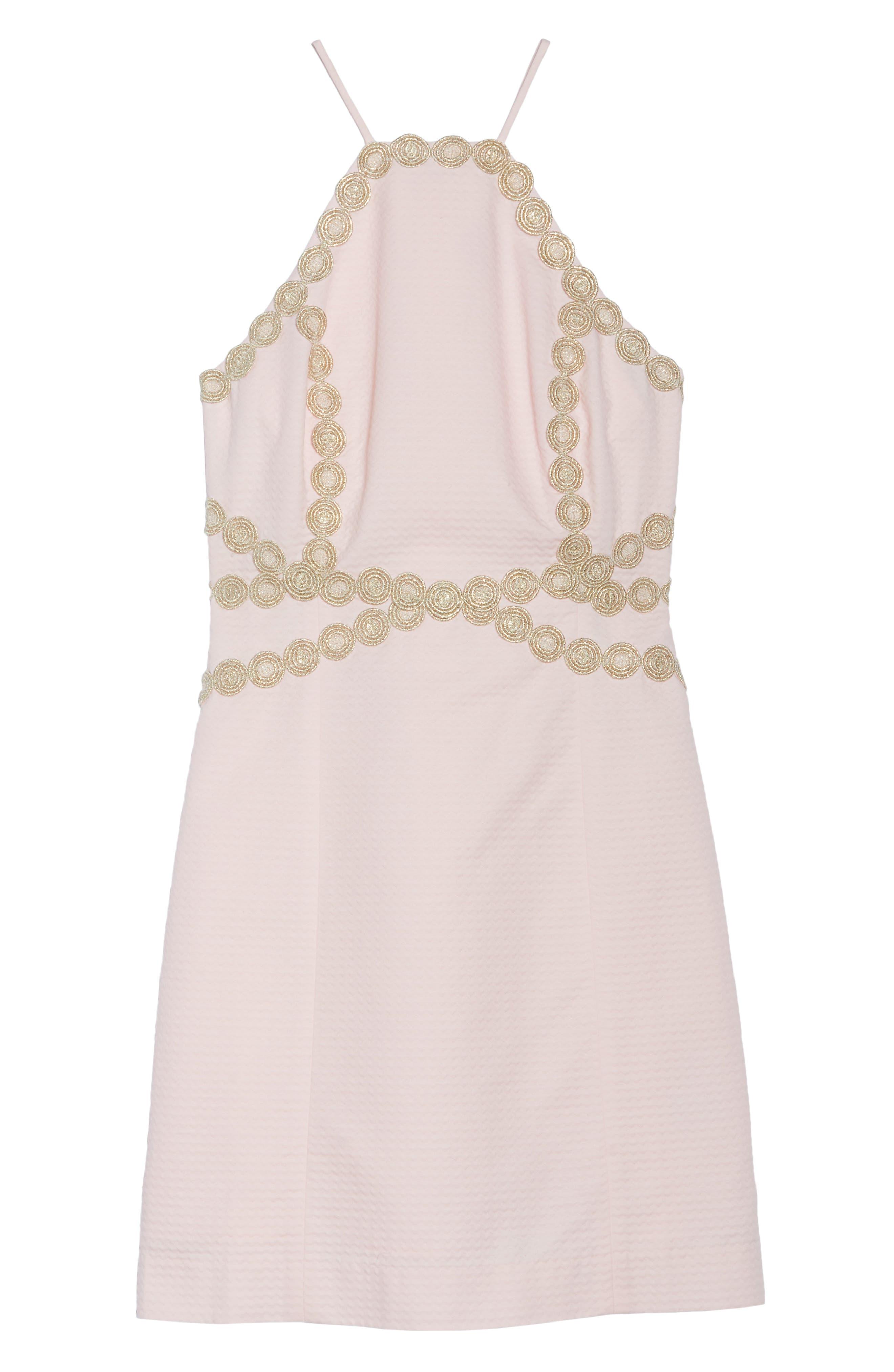 Pearl Shift Dress,                             Alternate thumbnail 6, color,                             PARADISE TINT