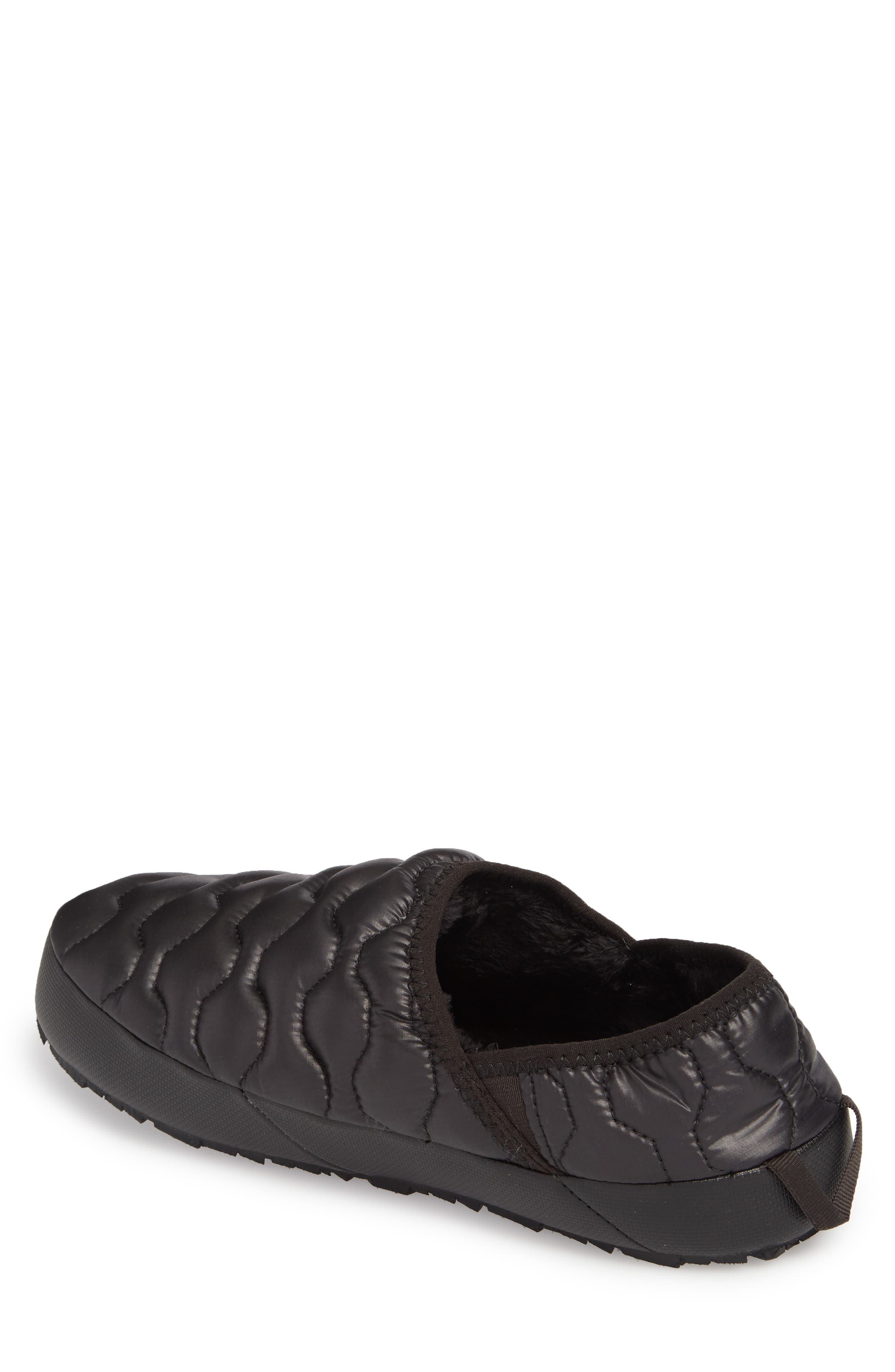 ThermoBall<sup>™</sup> Water-Resistant Traction slipper,                             Alternate thumbnail 2, color,                             SHINY BLACK/ DARK GREY
