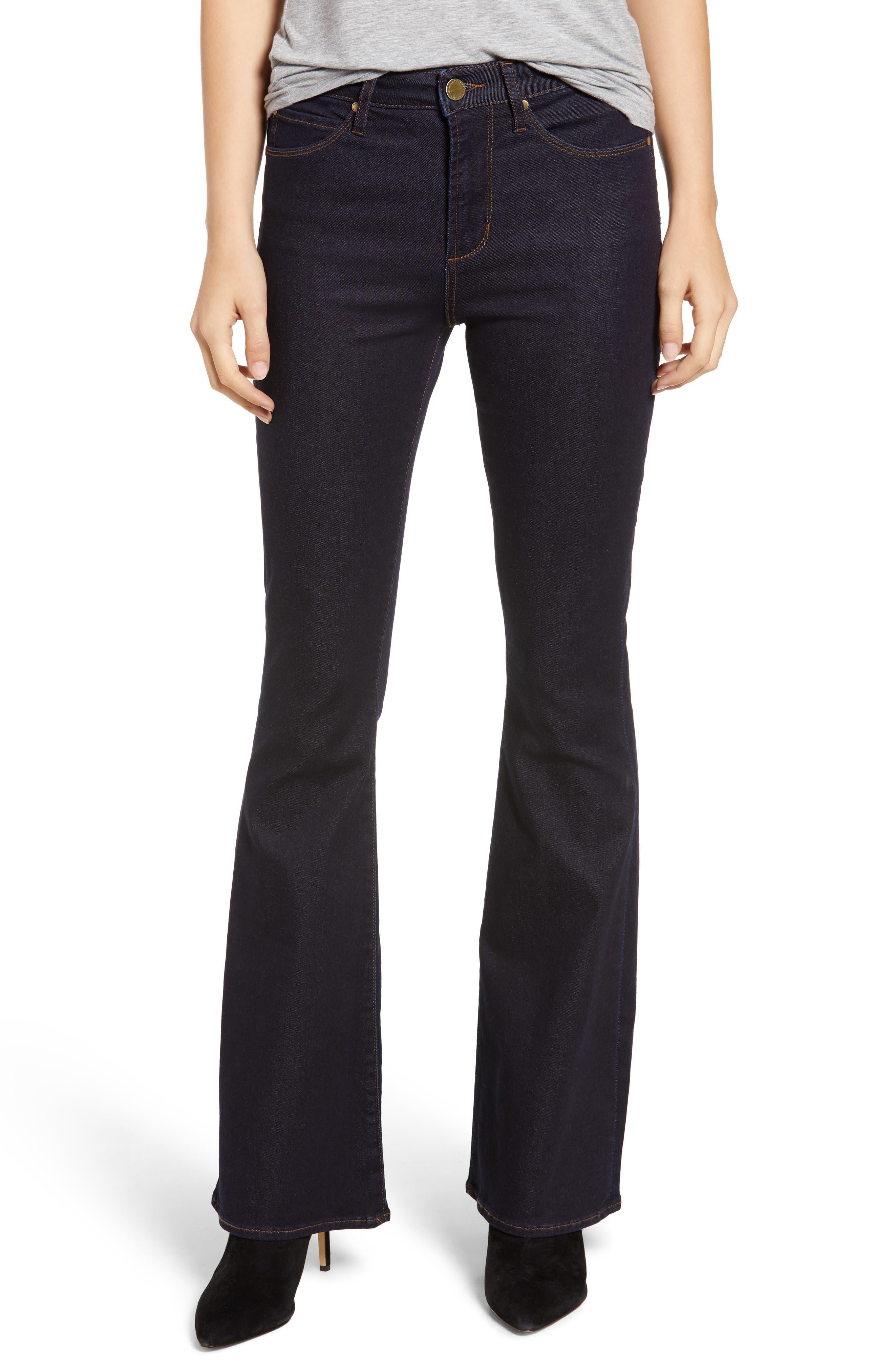 ARTICLES OF SOCIETY Bridgette High Waist Flare Jeans in Foley Dark Wash