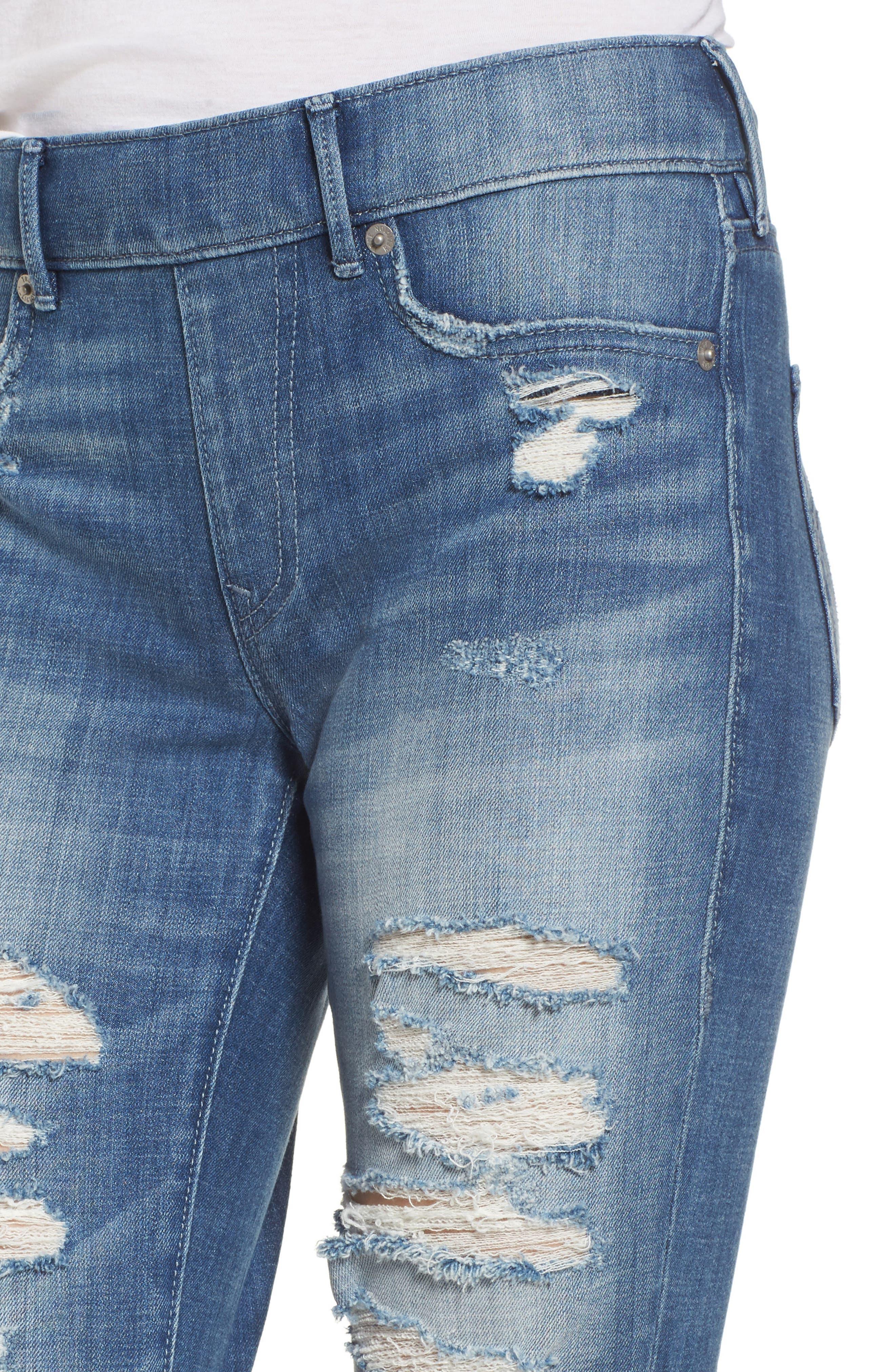 Jennie Runaway Legging Jeans,                             Alternate thumbnail 4, color,                             401