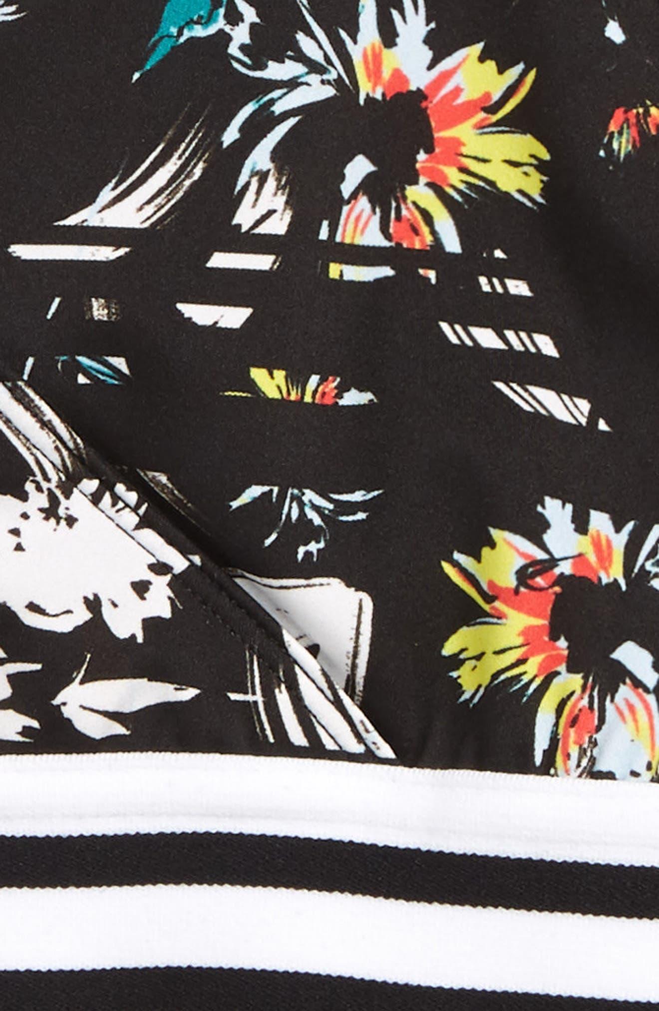Retro Two-Piece Swimsuit,                             Alternate thumbnail 2, color,                             BLACK MULTI SPLICED FLORAL