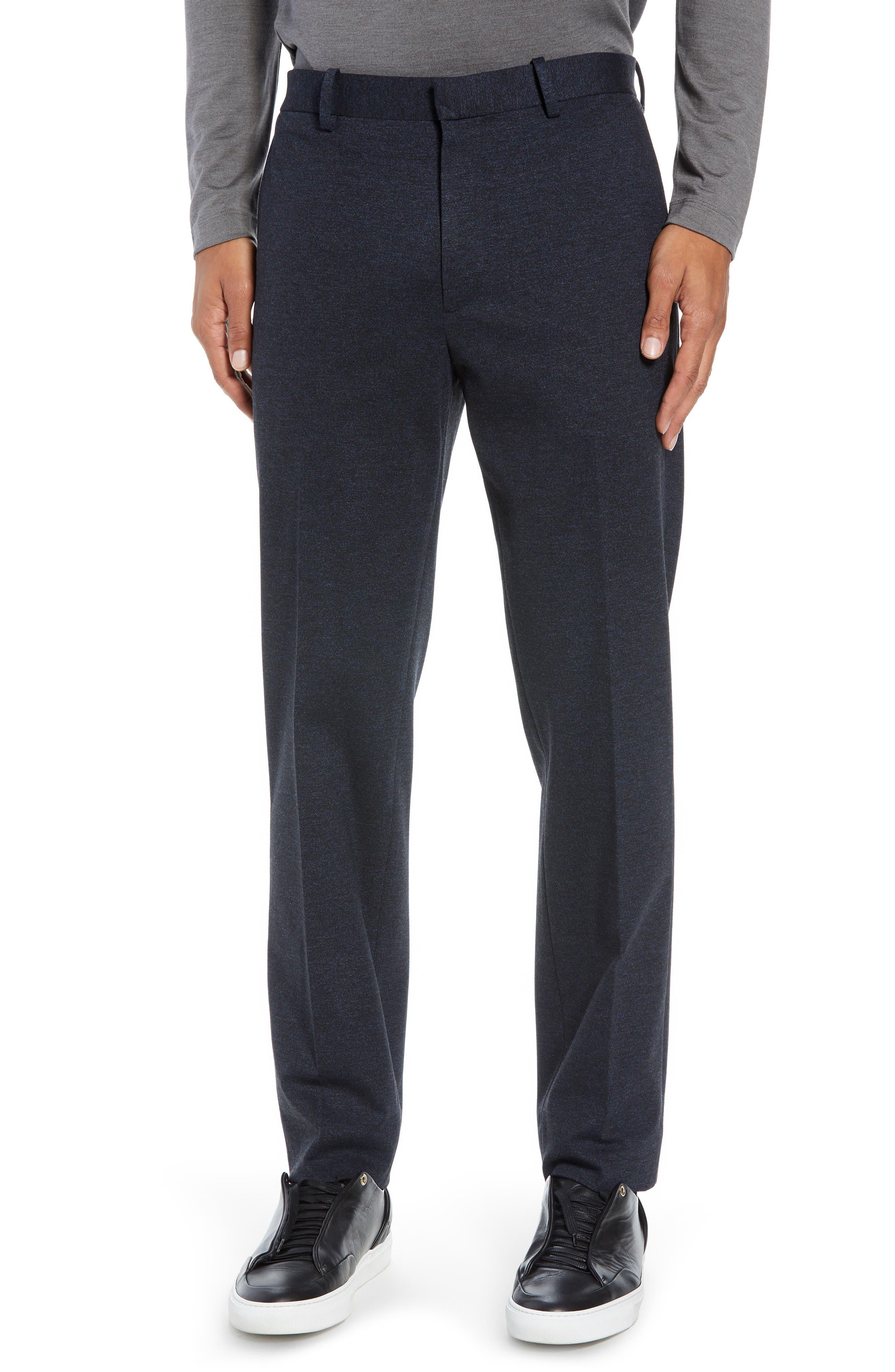 Payton Marled Ponte Trousers,                             Main thumbnail 1, color,                             ECLIPSE MELANGE