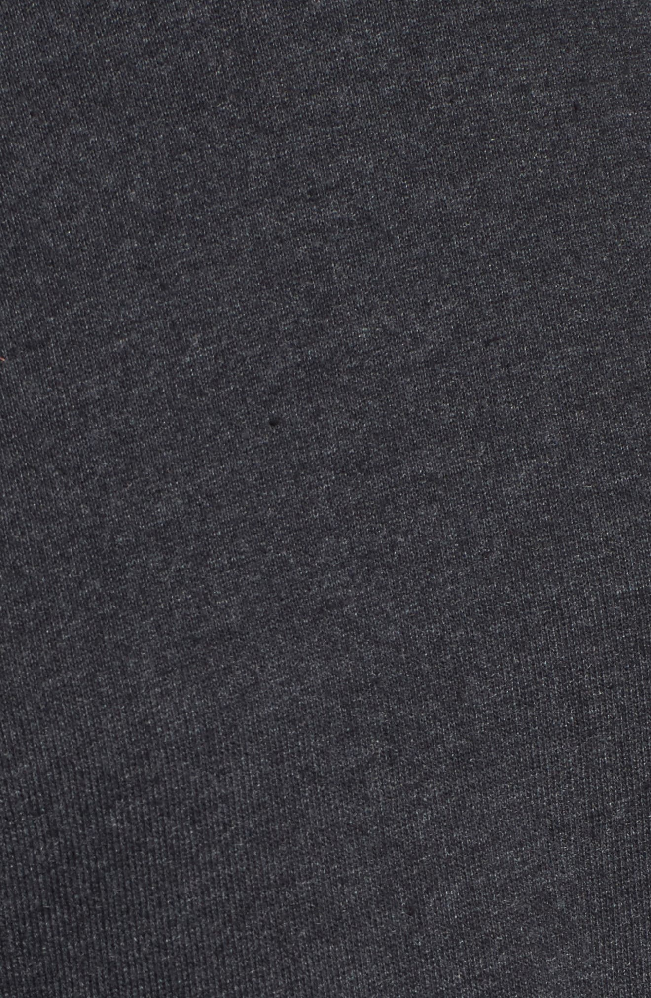 Viera Fleece Peplum Sweatshirt,                             Alternate thumbnail 5, color,                             020