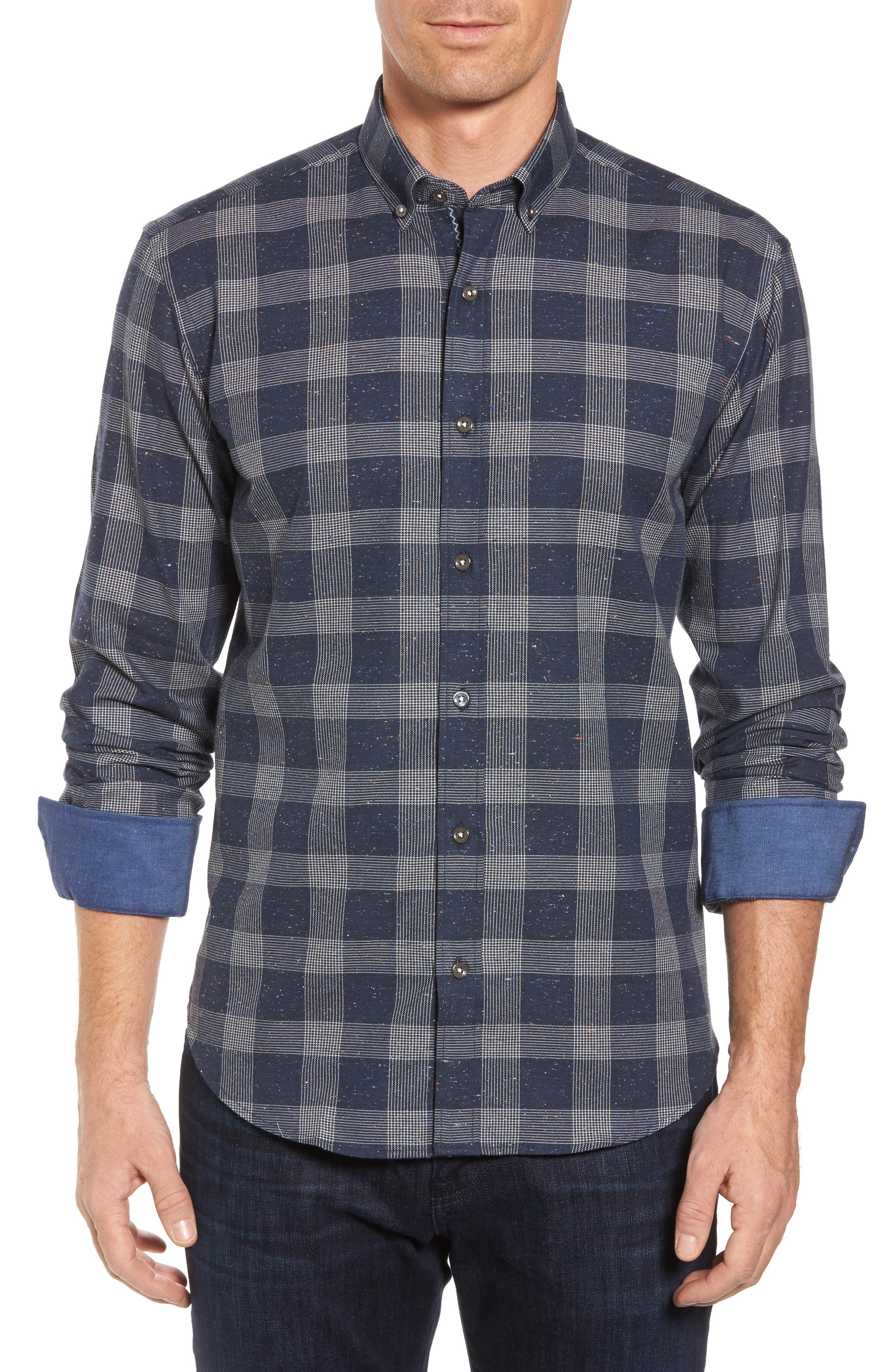 Shaped Fit Check Sport Shirt,                         Main,                         color,