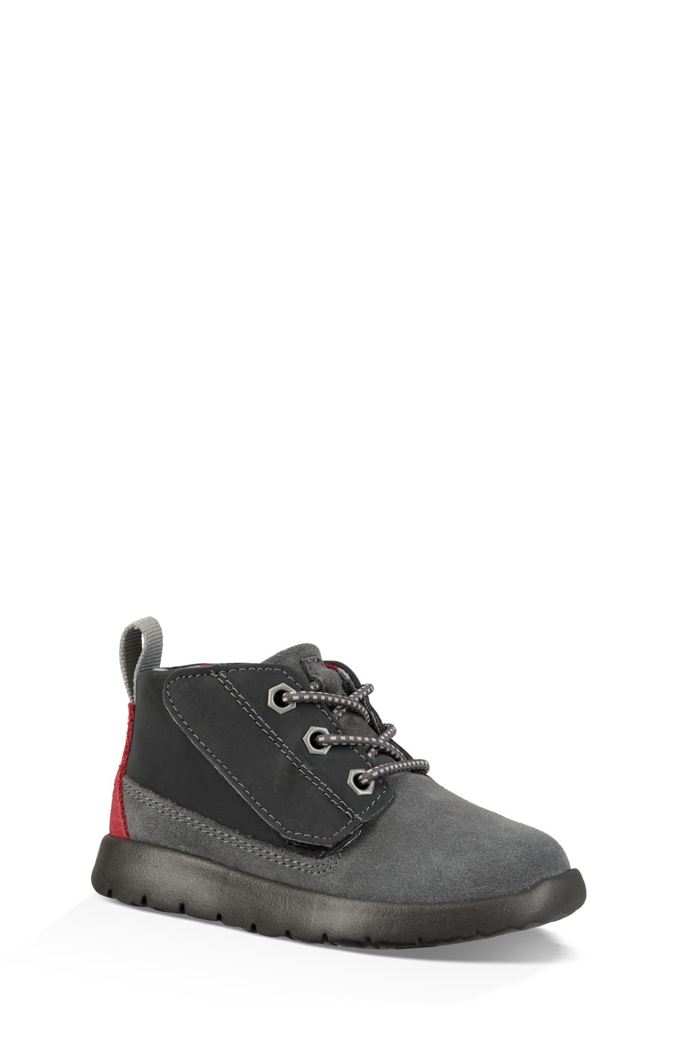 Canoe Chukka Sneaker,                             Main thumbnail 1, color,                             GREY / BLACK