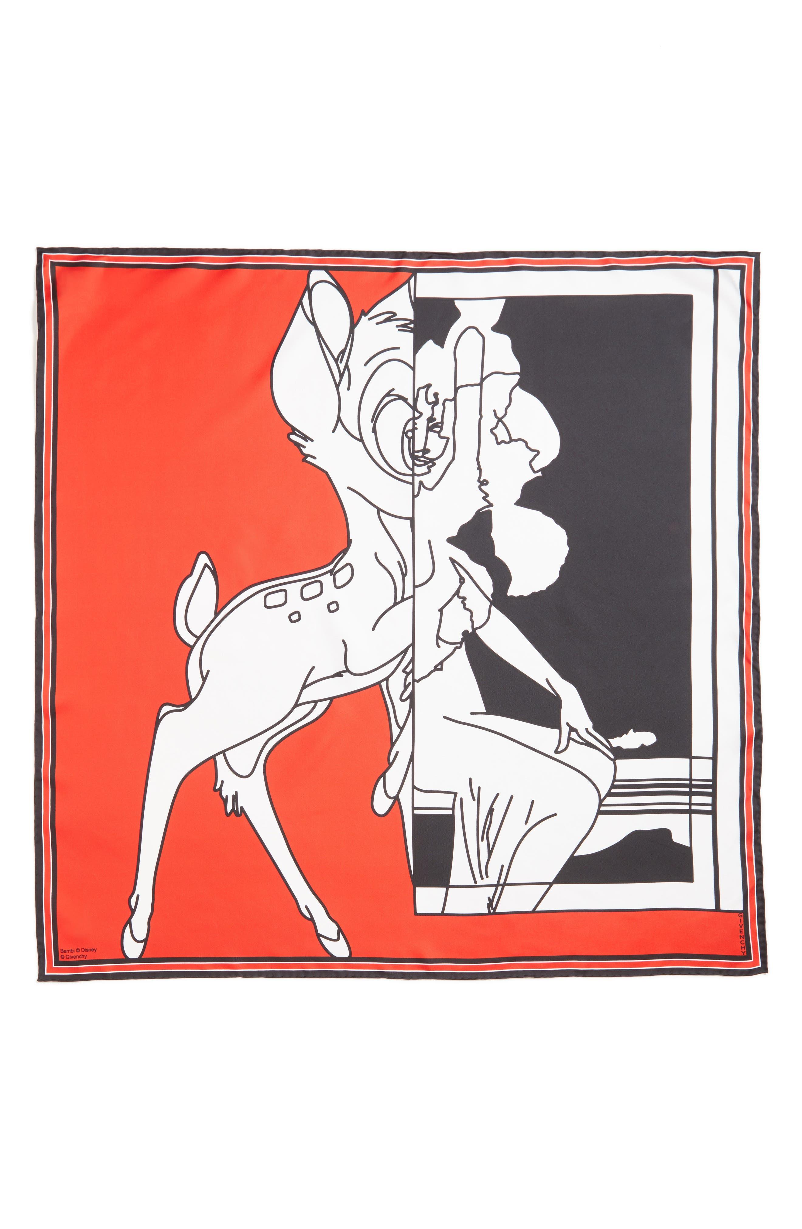 Bambi Print Square Scarf,                             Main thumbnail 2, color,