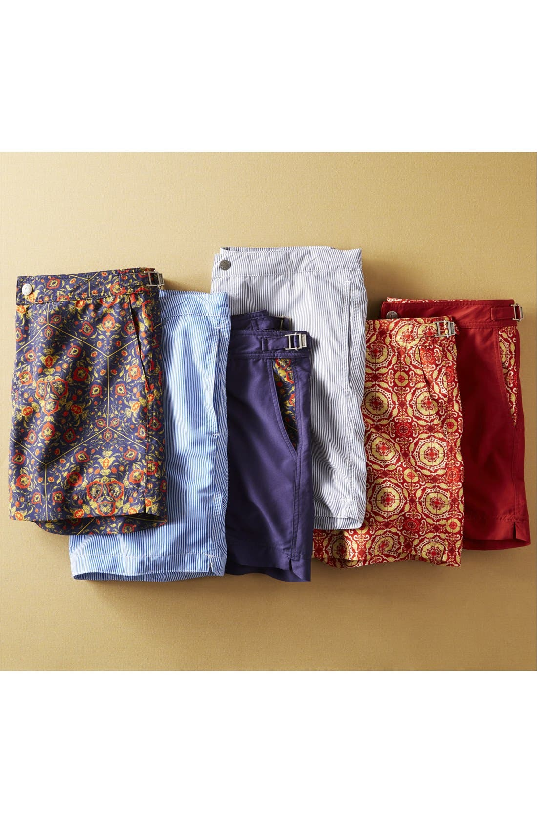 'Aruba - Stripe' Tailored Fit 8.5 Inch Board Shorts,                             Alternate thumbnail 4, color,                             STRIPED ANCHOR GREY