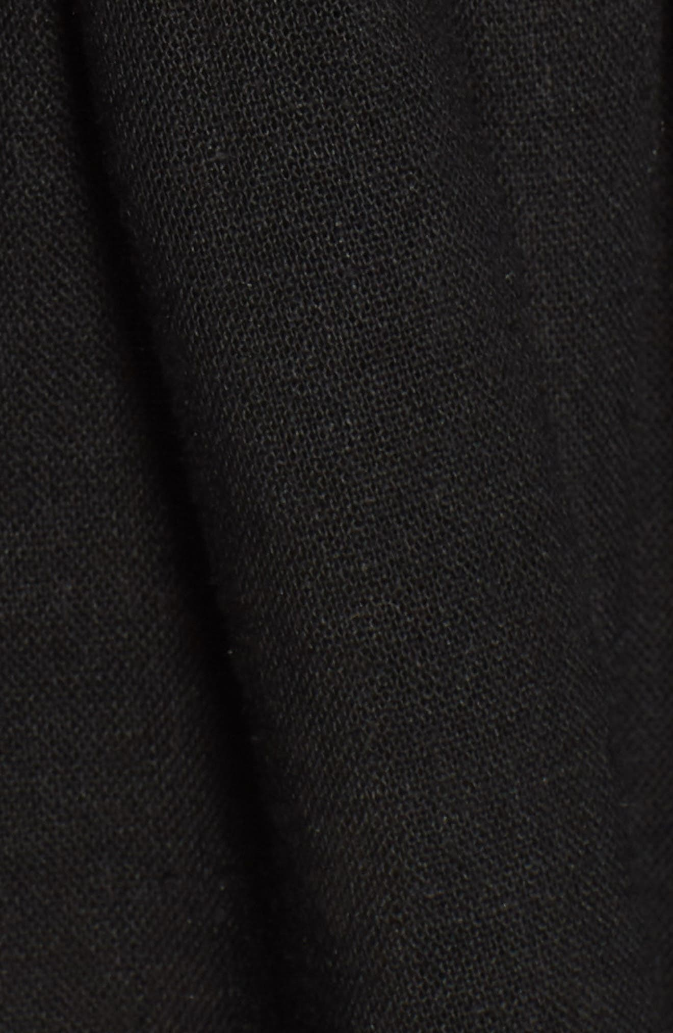 Selma Cold Shoulder Linen Blend Dress,                             Alternate thumbnail 5, color,                             001