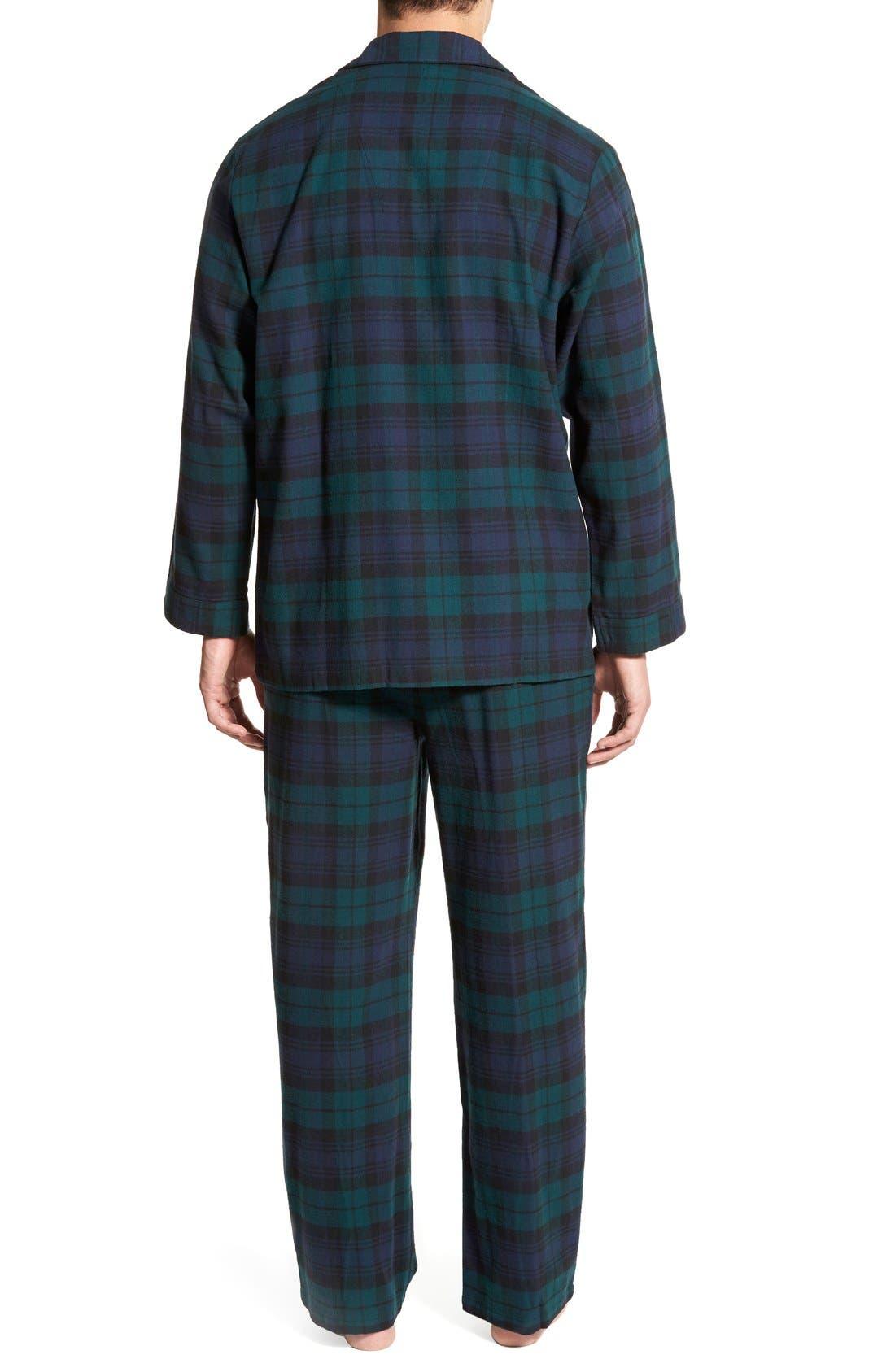 '824' Flannel Pajama Set,                             Alternate thumbnail 106, color,