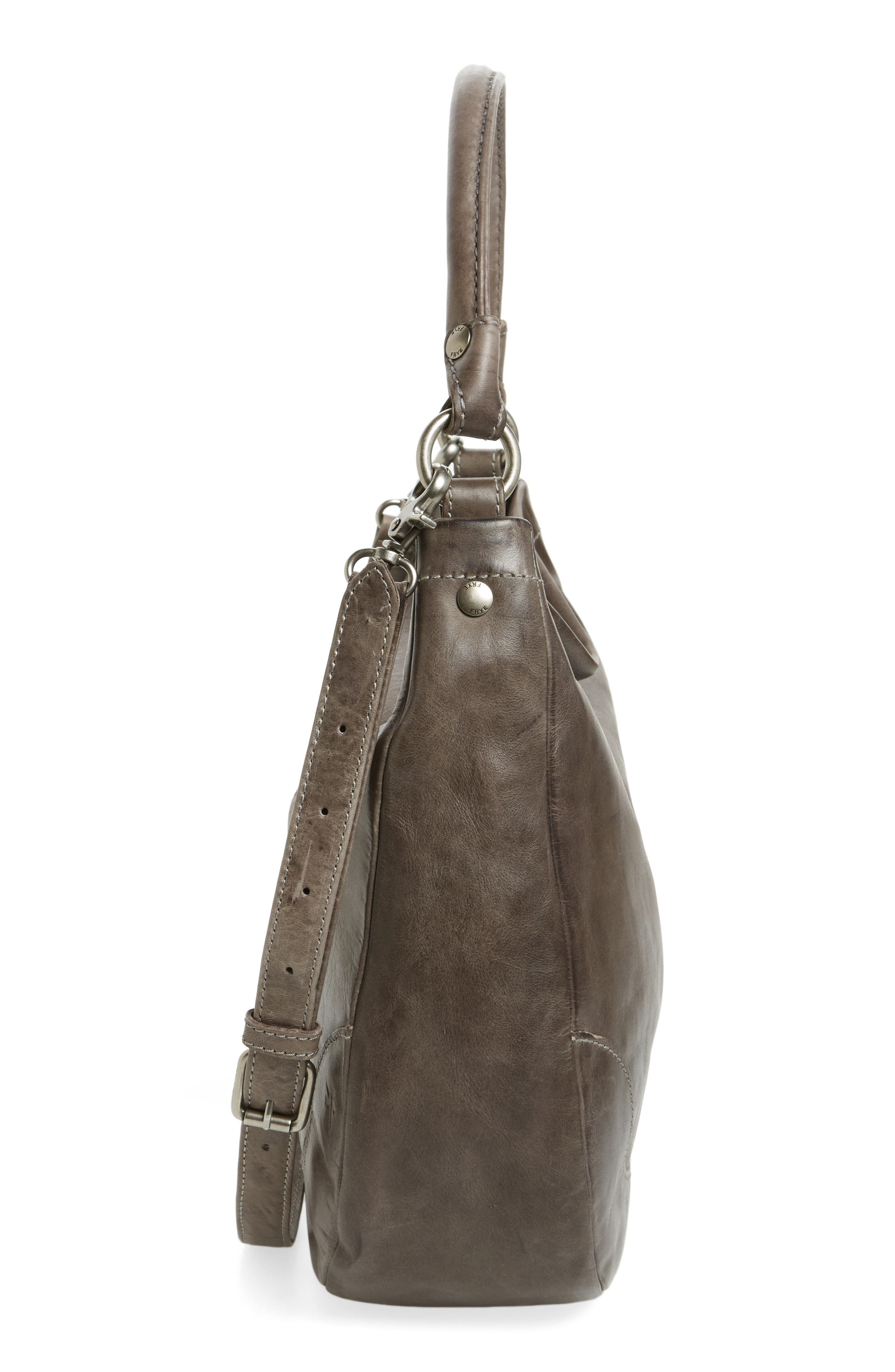 Melissa Leather Hobo,                             Alternate thumbnail 5, color,                             ICE