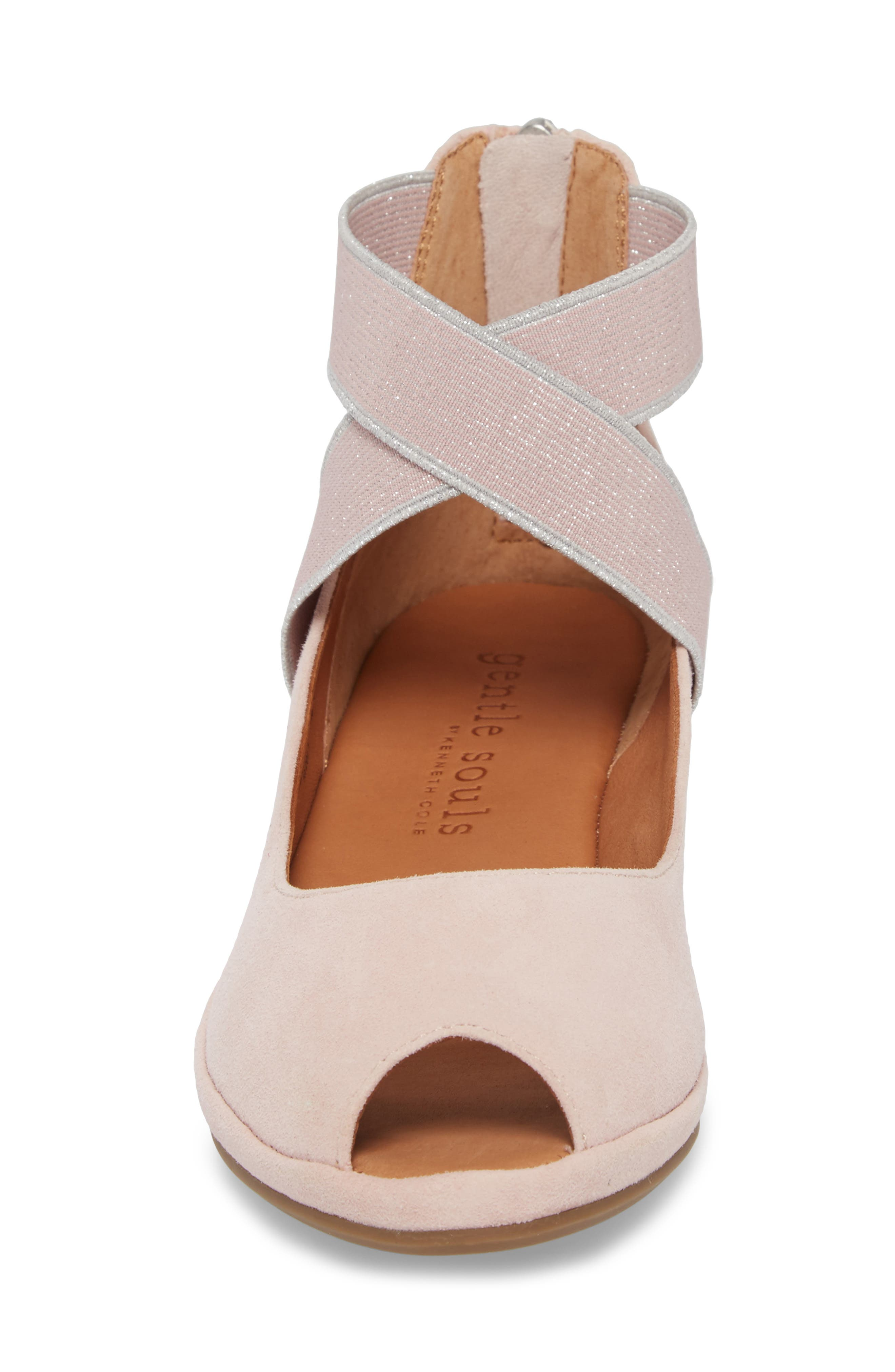 by Kenneth Cole Lisa Wedge Sandal,                             Alternate thumbnail 4, color,                             PEONY SUEDE