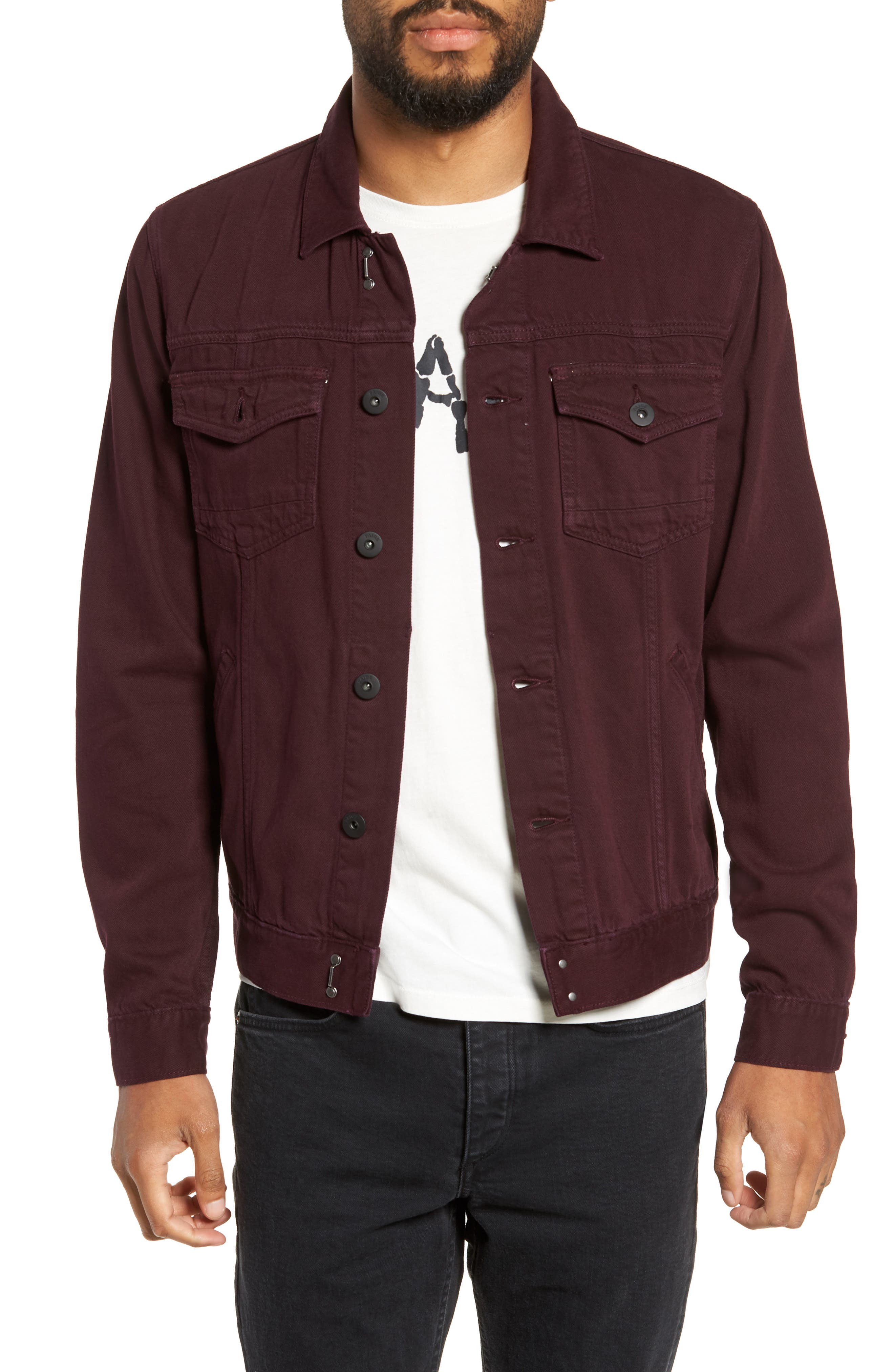 Scout Denim Jacket,                         Main,                         color, VINTAGE AUBERGINE
