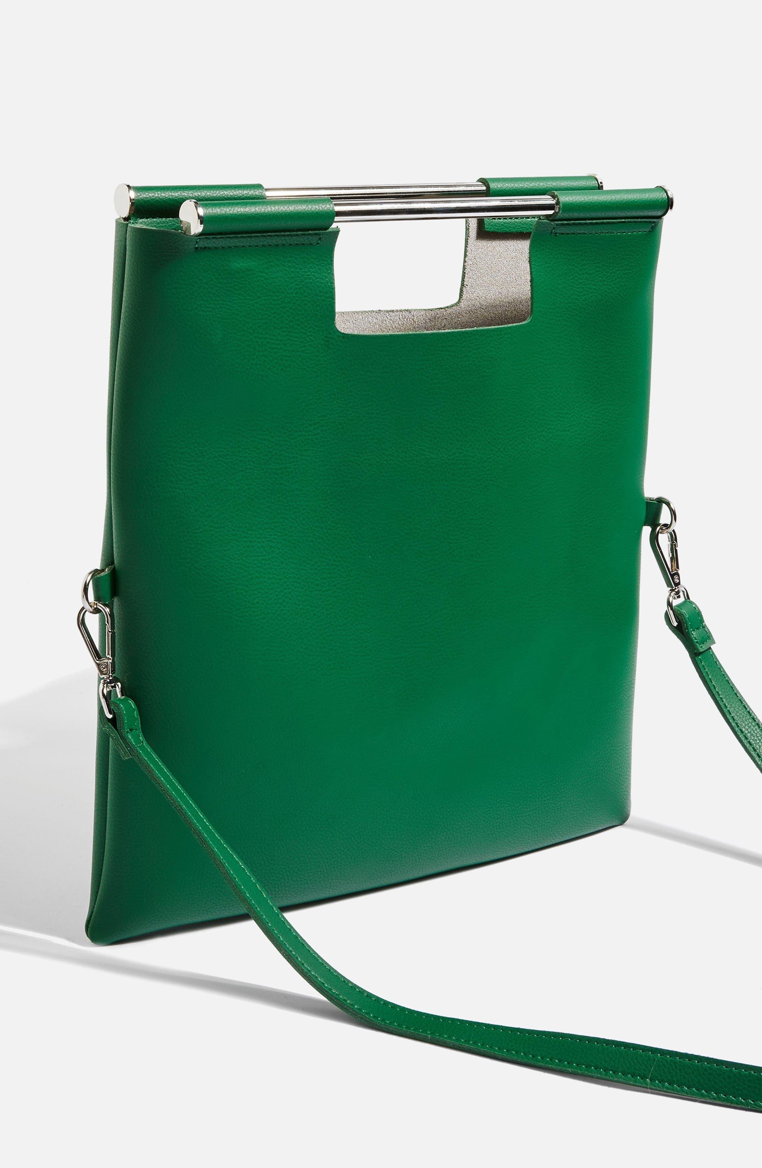 Lotus Metal Handle Clutch Bag,                             Alternate thumbnail 6, color,
