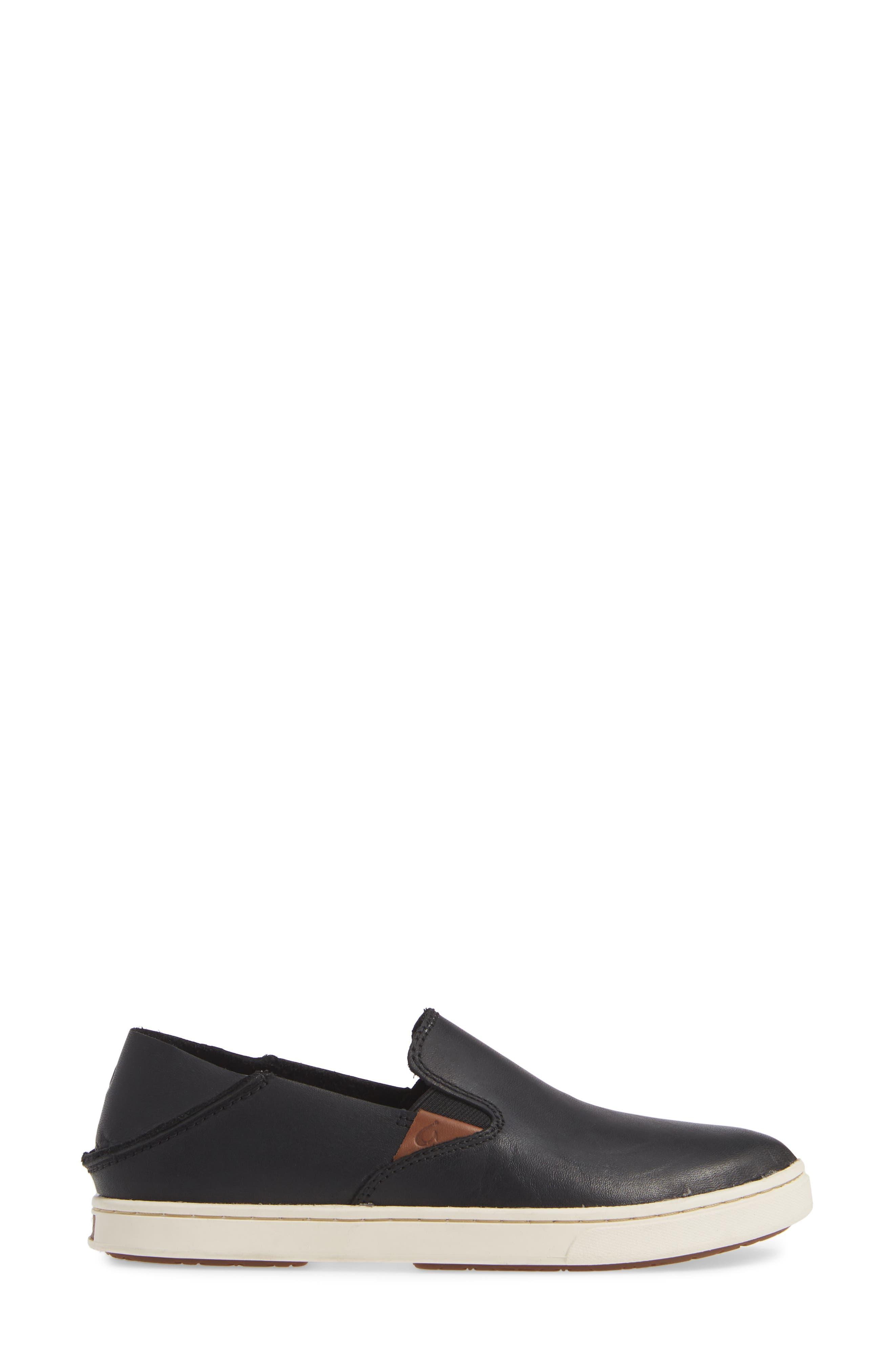 Pehuea Slip-On Sneaker,                             Alternate thumbnail 2, color,                             BLACK/ BLACK LEATHER