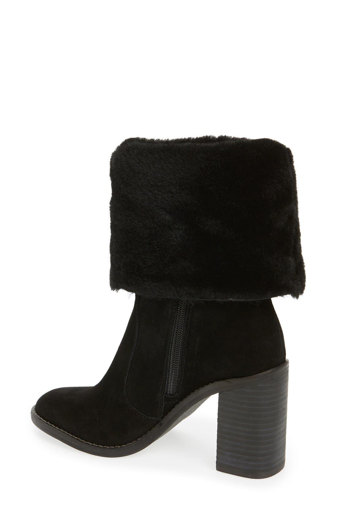 'Maira' Genuine Shearling Cuff Boot,                             Alternate thumbnail 2, color,                             002