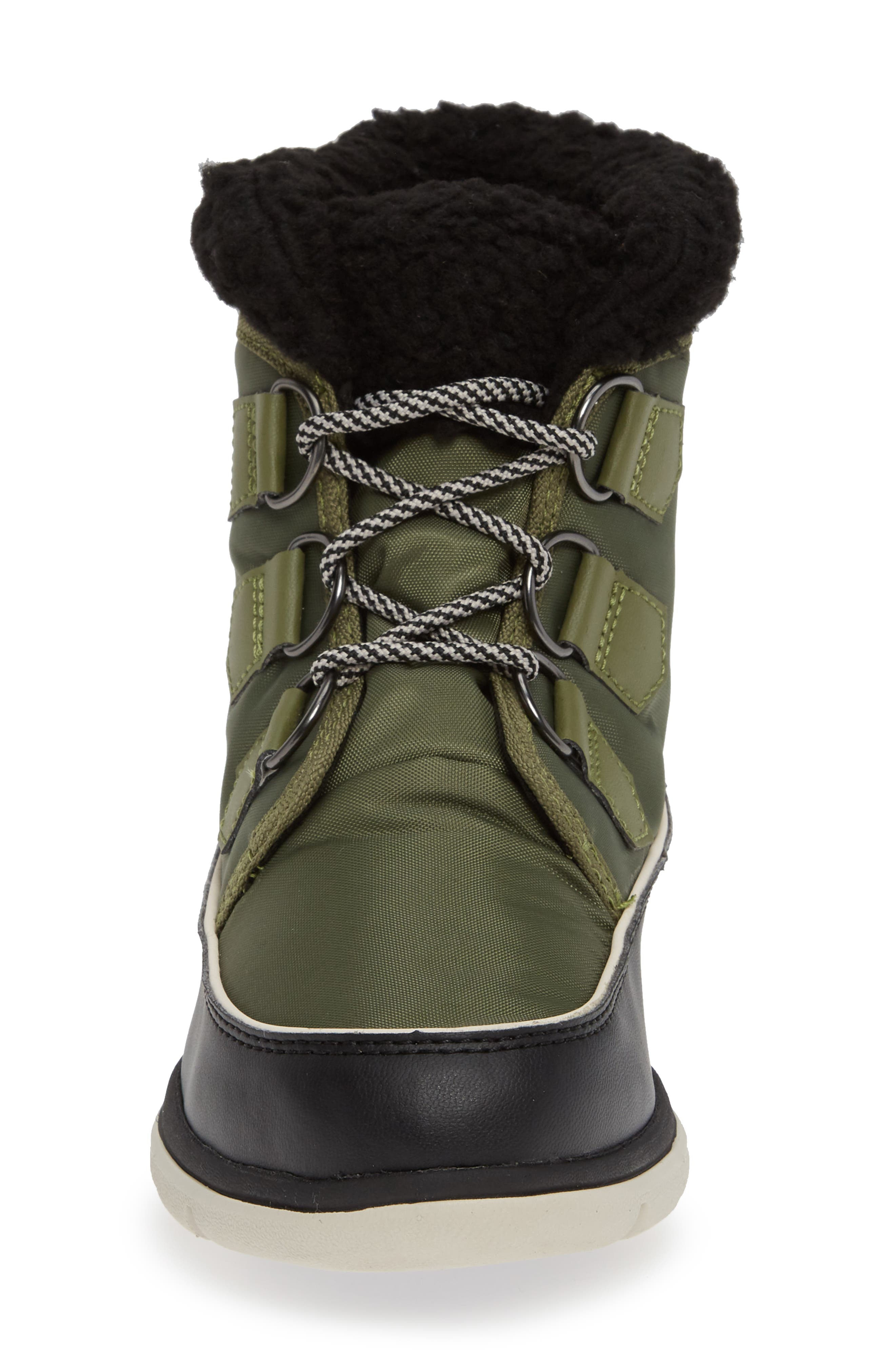 Explorer Carnival Waterproof Boot with Faux Fur Collar,                             Alternate thumbnail 4, color,                             HIKER GREEN