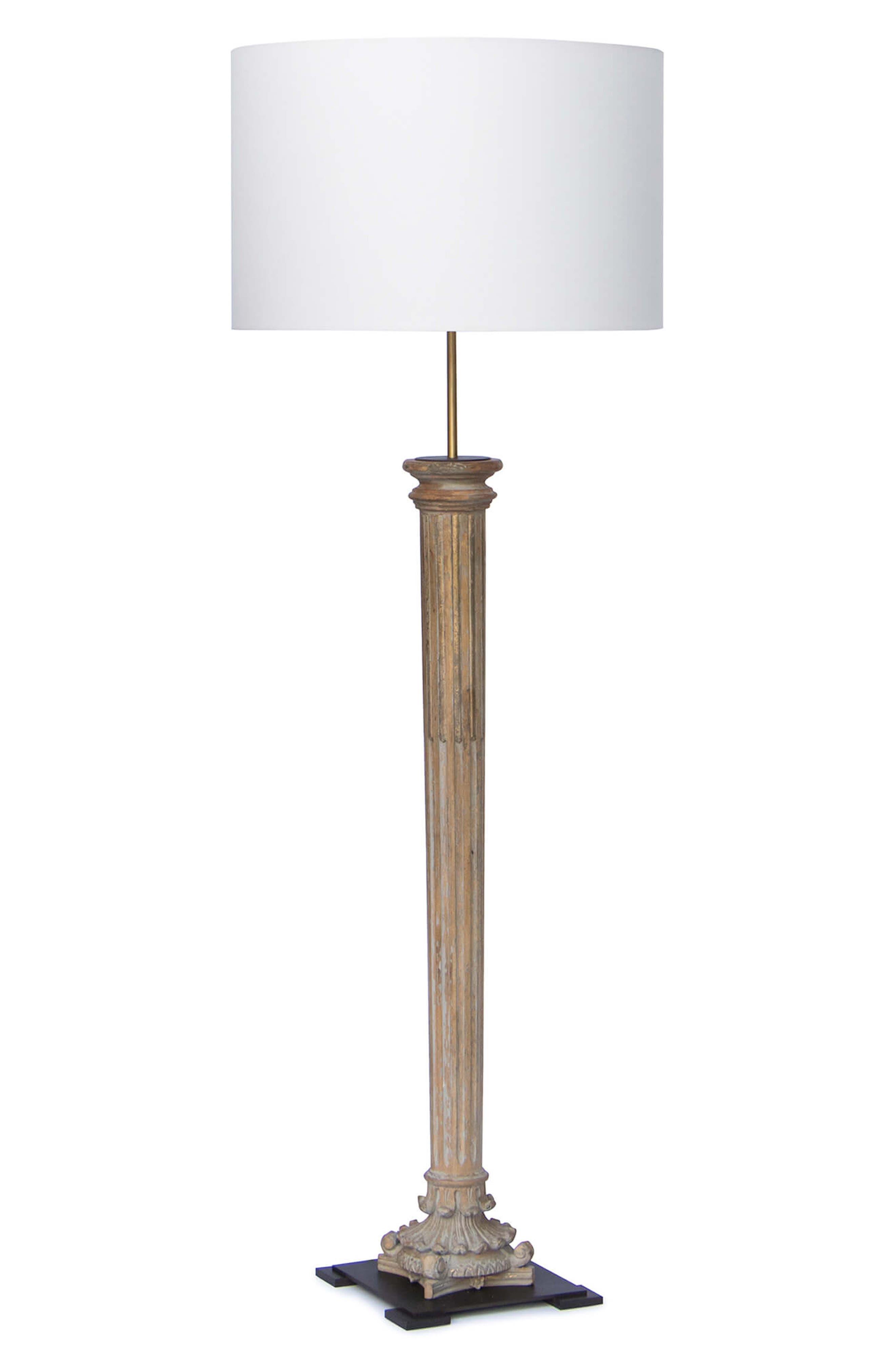Design Reuben Floor Lamp,                             Main thumbnail 1, color,                             NATURAL BRASS
