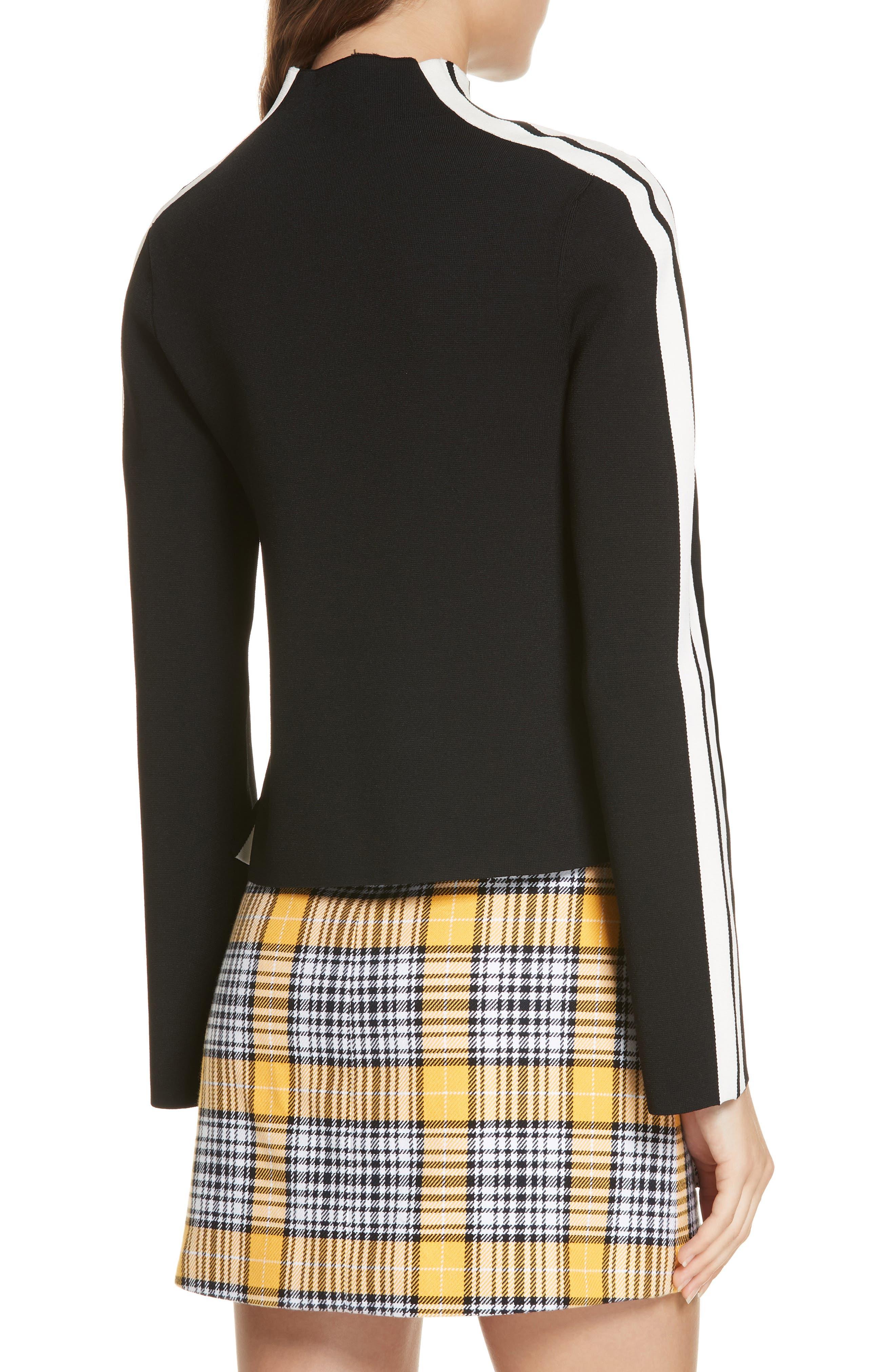 Retha Side Stripe Sweater,                             Alternate thumbnail 2, color,                             BLACK