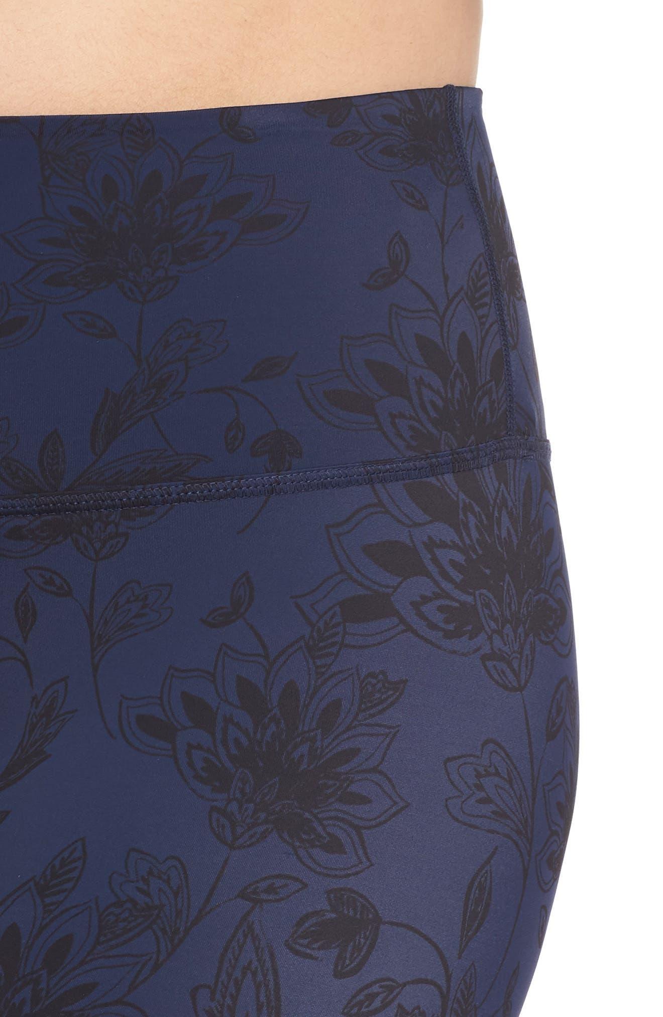 Compression High Waist BOPO Midi Leggings,                             Alternate thumbnail 4, color,                             DESERT FLORAL