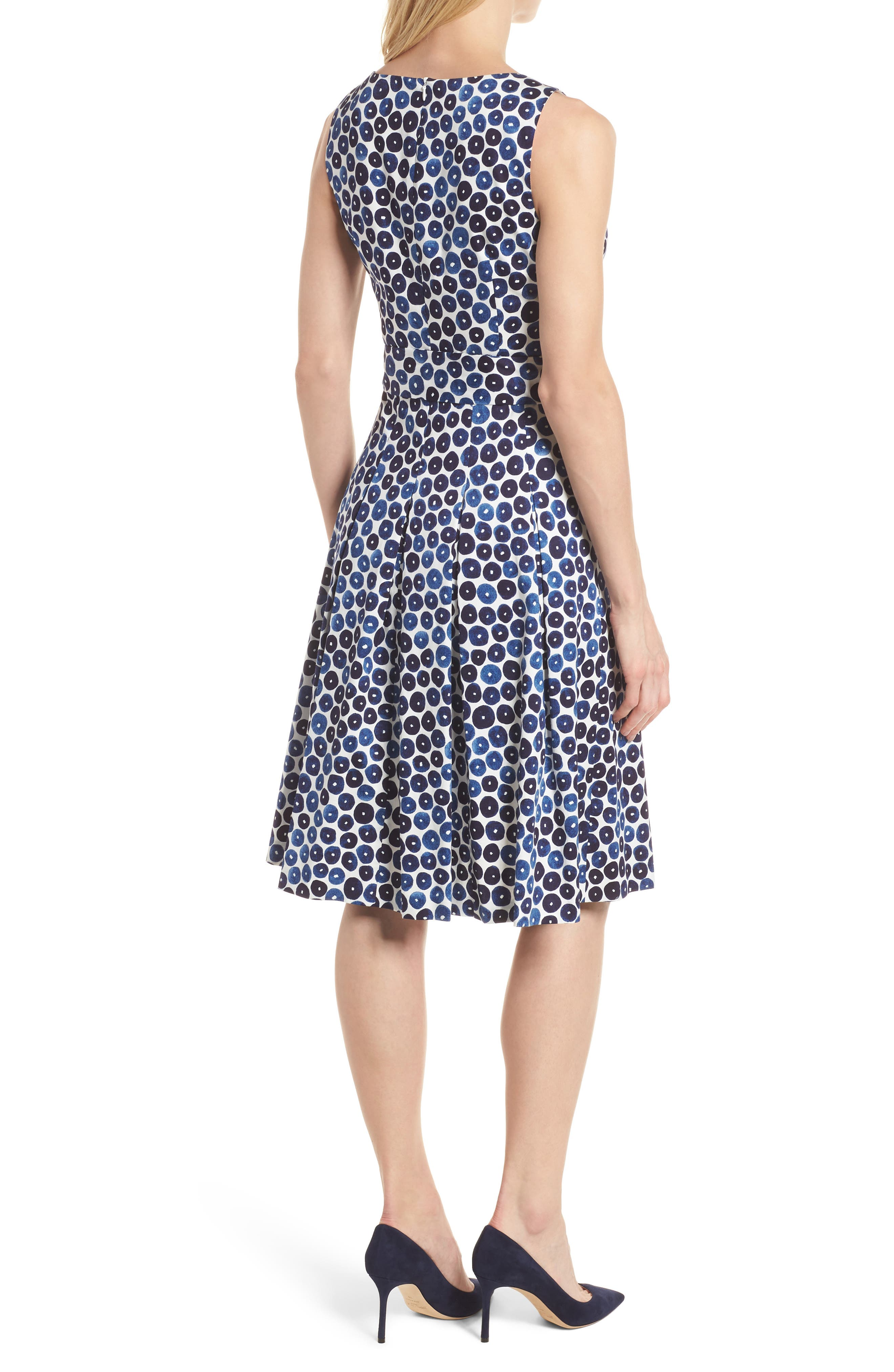 Neroli Print Cotton Sateen Dress,                             Alternate thumbnail 2, color,                             400