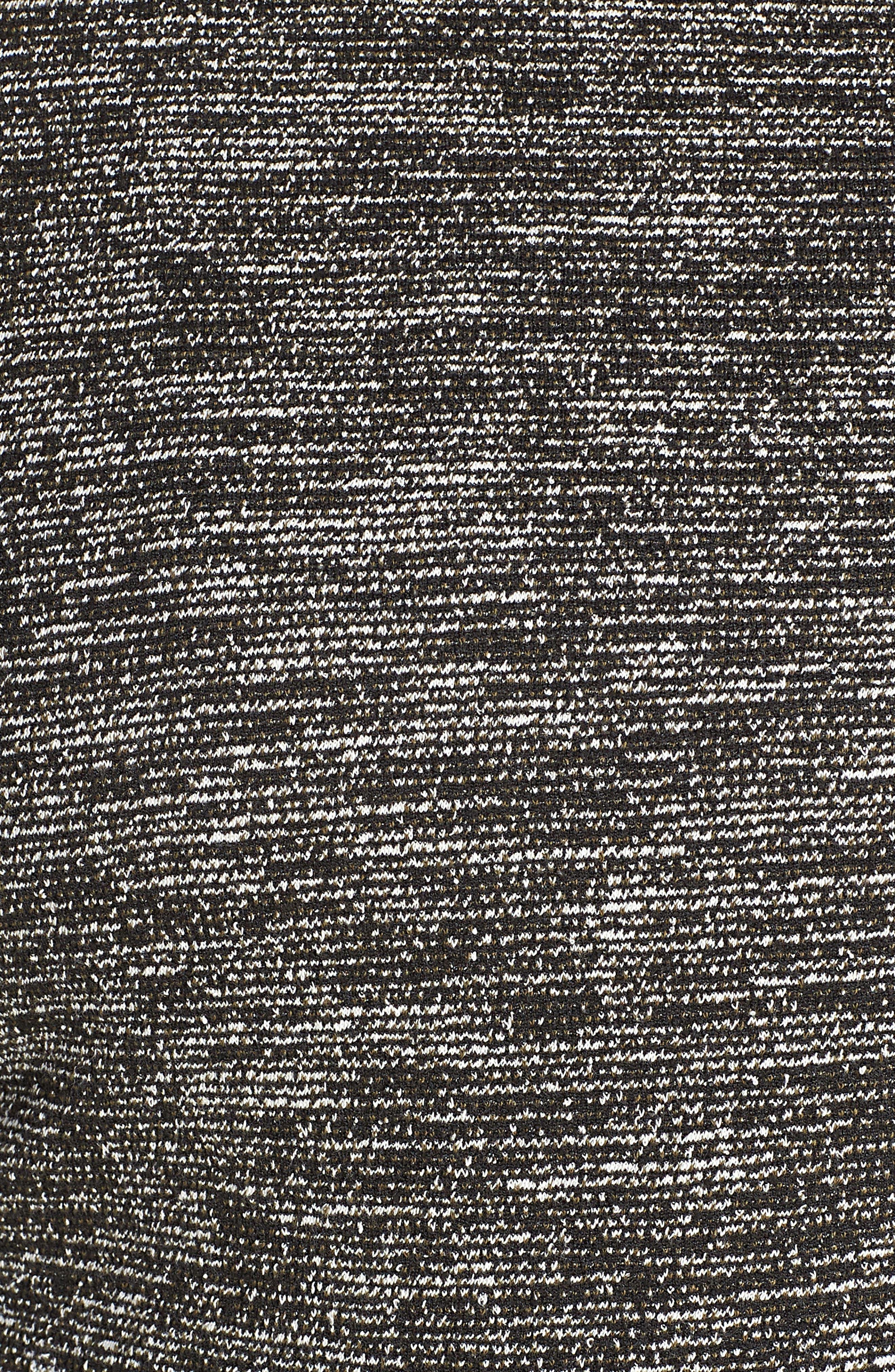 Mix Media Knit Jacket,                             Alternate thumbnail 6, color,                             BLACK TWEED