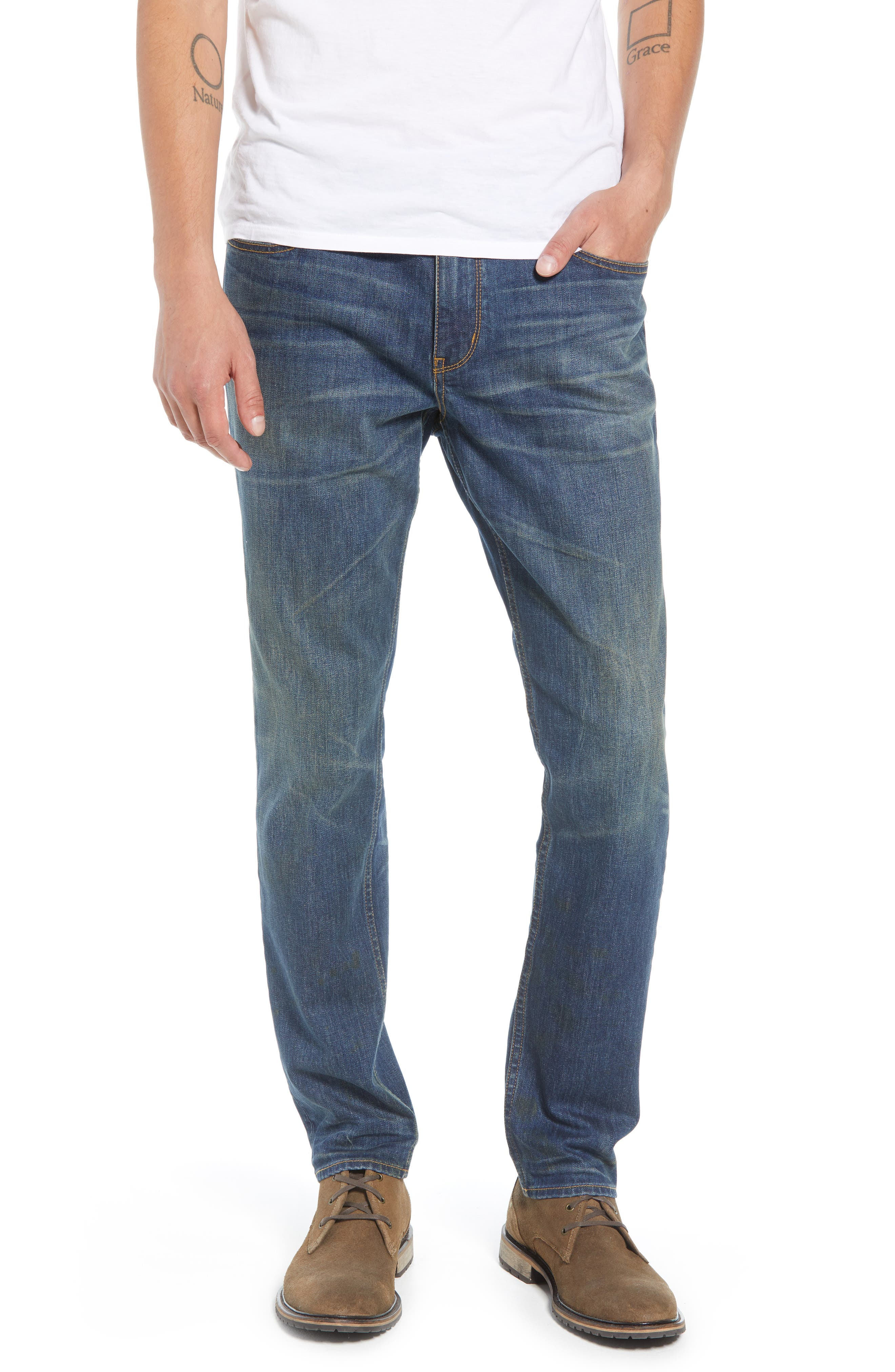 TREASURE & BOND Slim Fit Jeans, Main, color, BLUE MED VINTAGE WASH