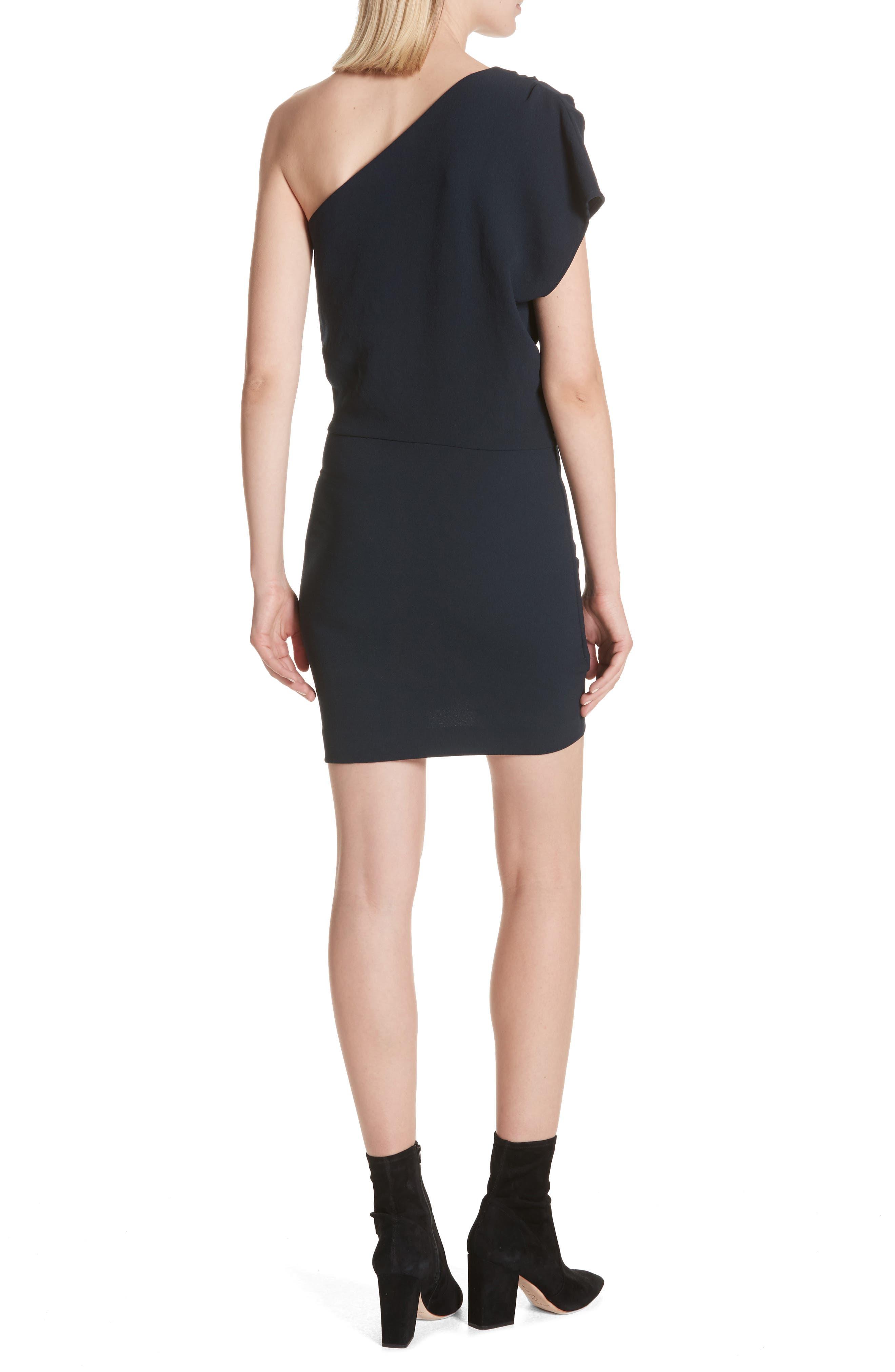 Davov One-Shoulder Envelope Hem Dress,                             Alternate thumbnail 4, color,