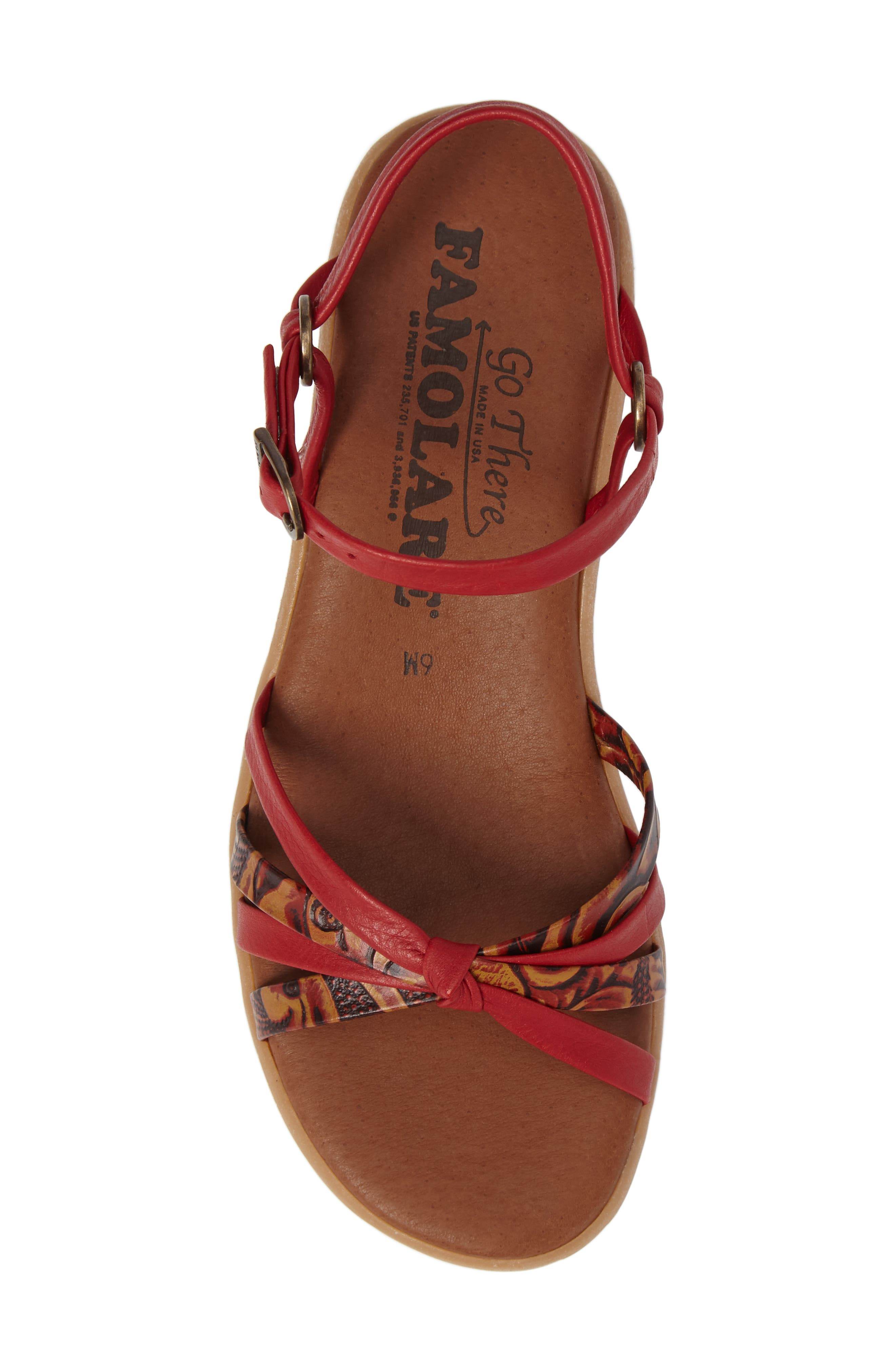 Strap Music Knotted Sandal,                             Alternate thumbnail 5, color,                             MULTI CORAL LEATHER