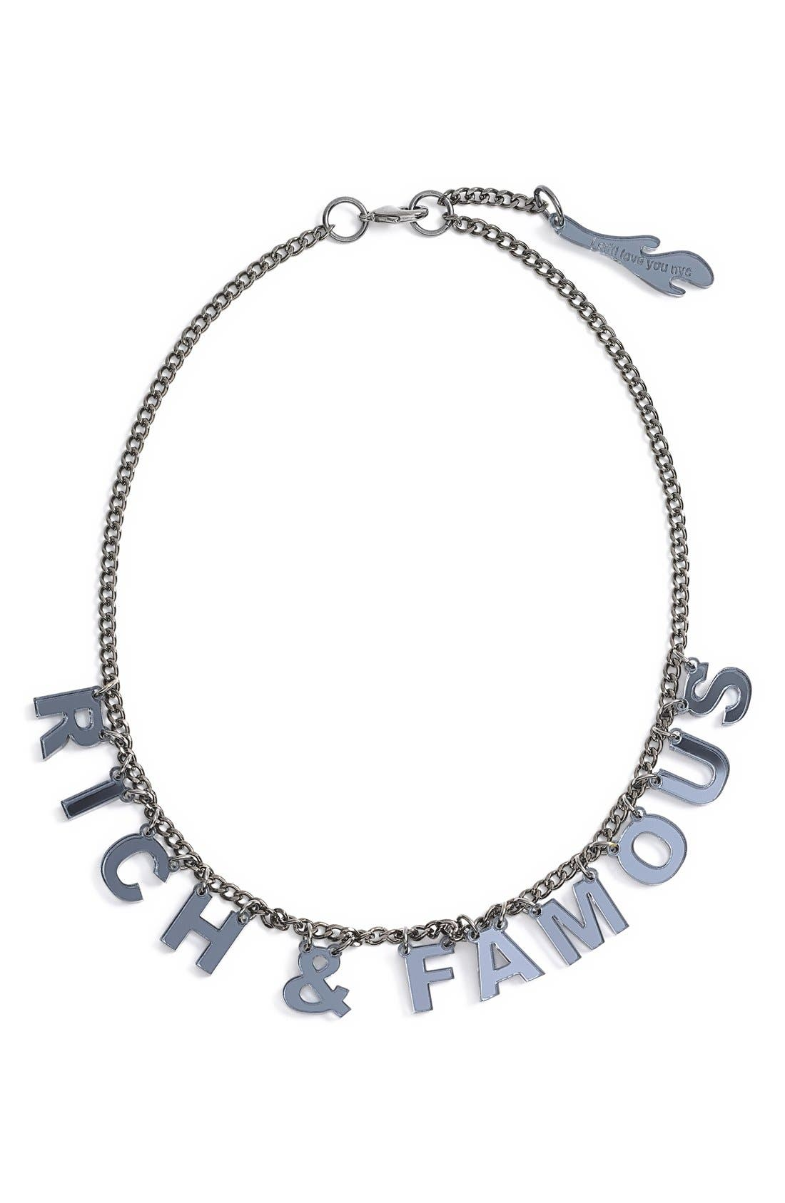 I STILL LOVE YOU NYC,                             Laser Cut Mantra Necklace,                             Alternate thumbnail 2, color,                             020