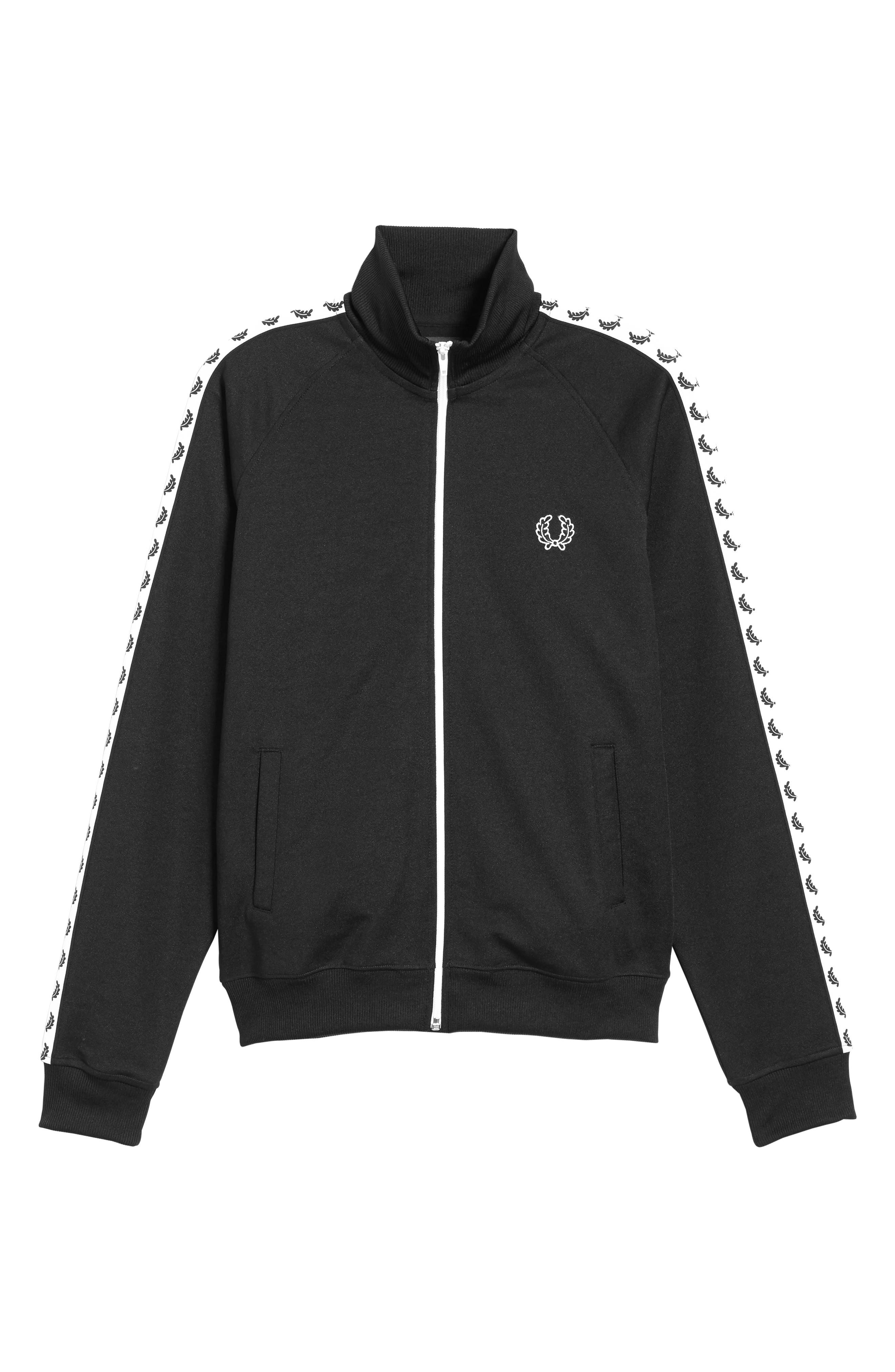 FRED PERRY,                             Laurel Tape Track Jacket,                             Alternate thumbnail 5, color,                             002