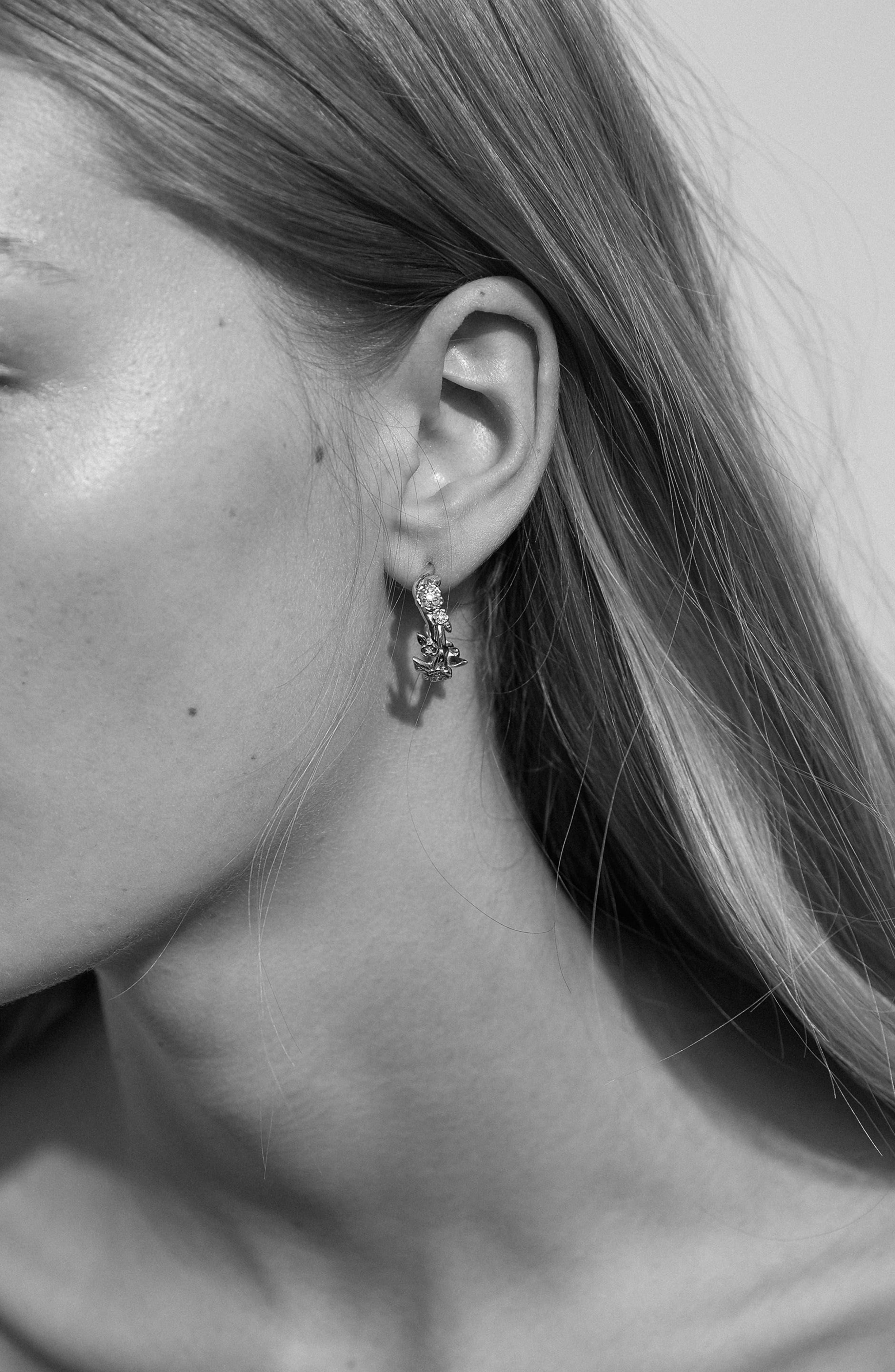 Small Alba Hoop Earrings,                             Alternate thumbnail 3, color,                             STERLING SILVER