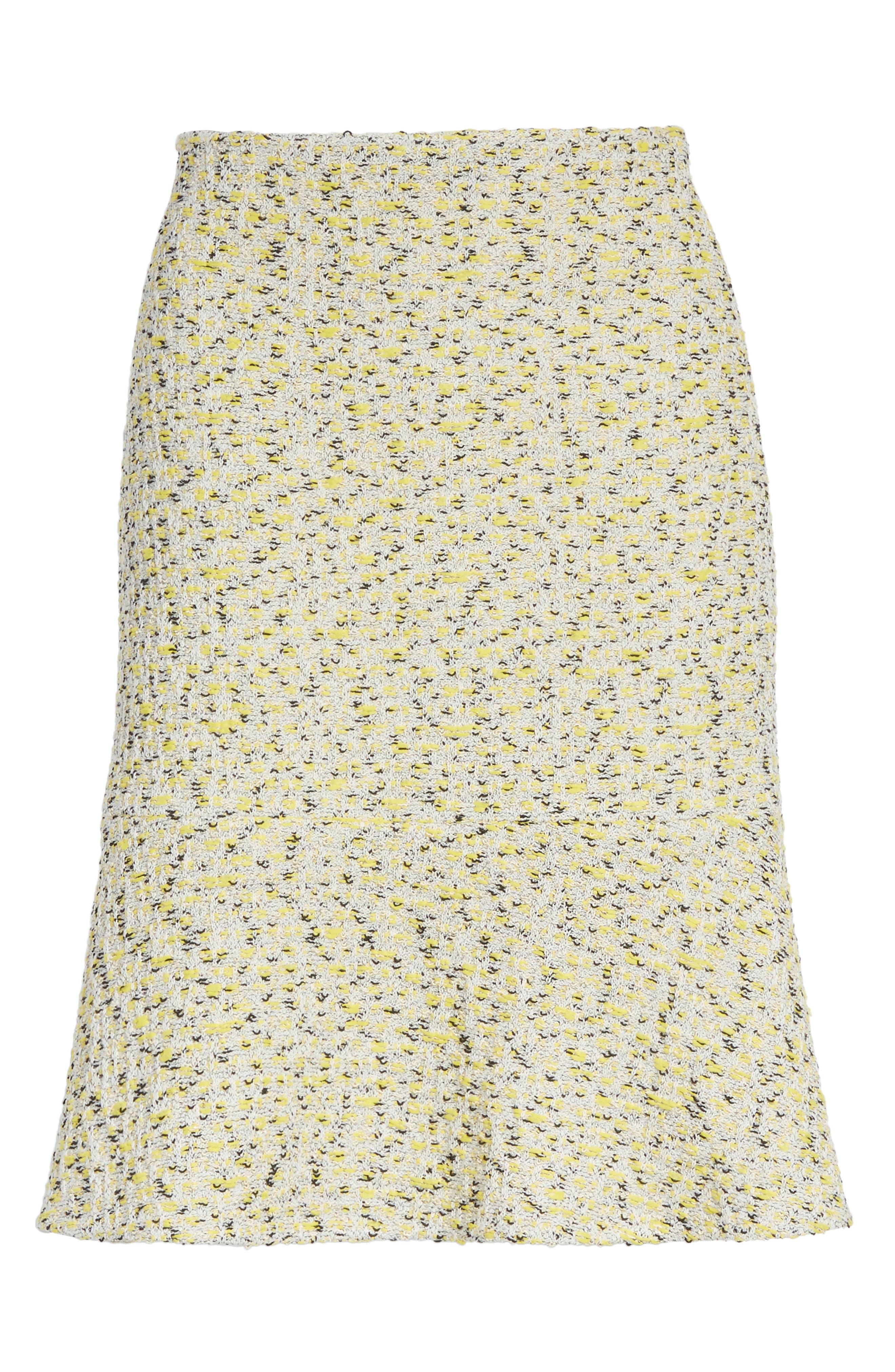 Romee Tweed Fit & Flare Skirt,                             Alternate thumbnail 6, color,                             730