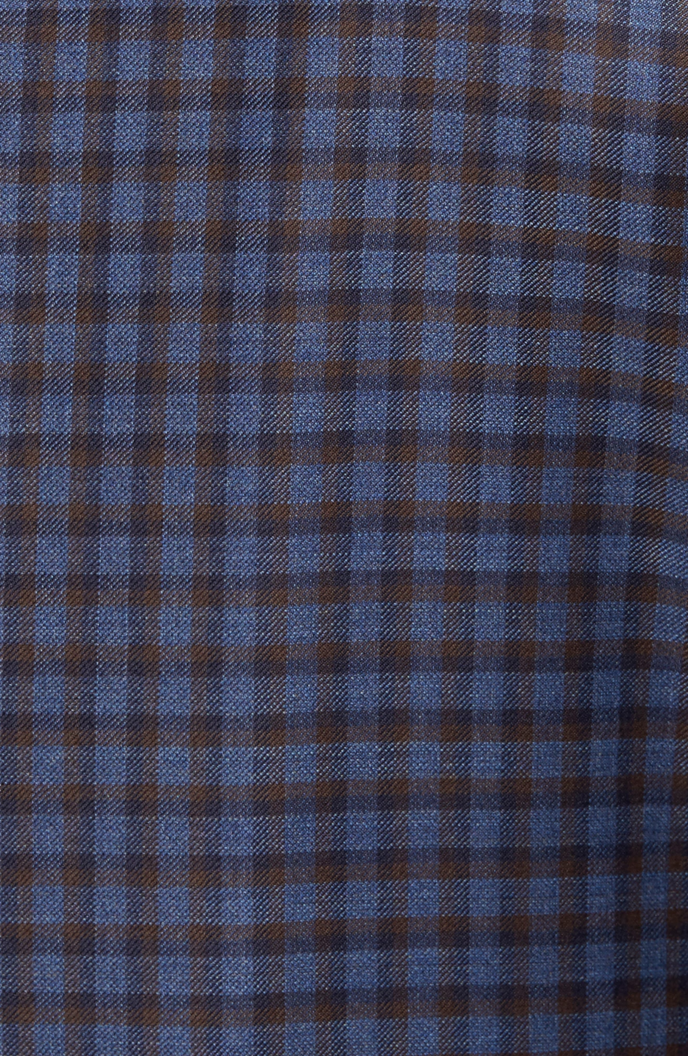 Classic Fit Check Wool Sport Coat,                             Alternate thumbnail 6, color,                             400