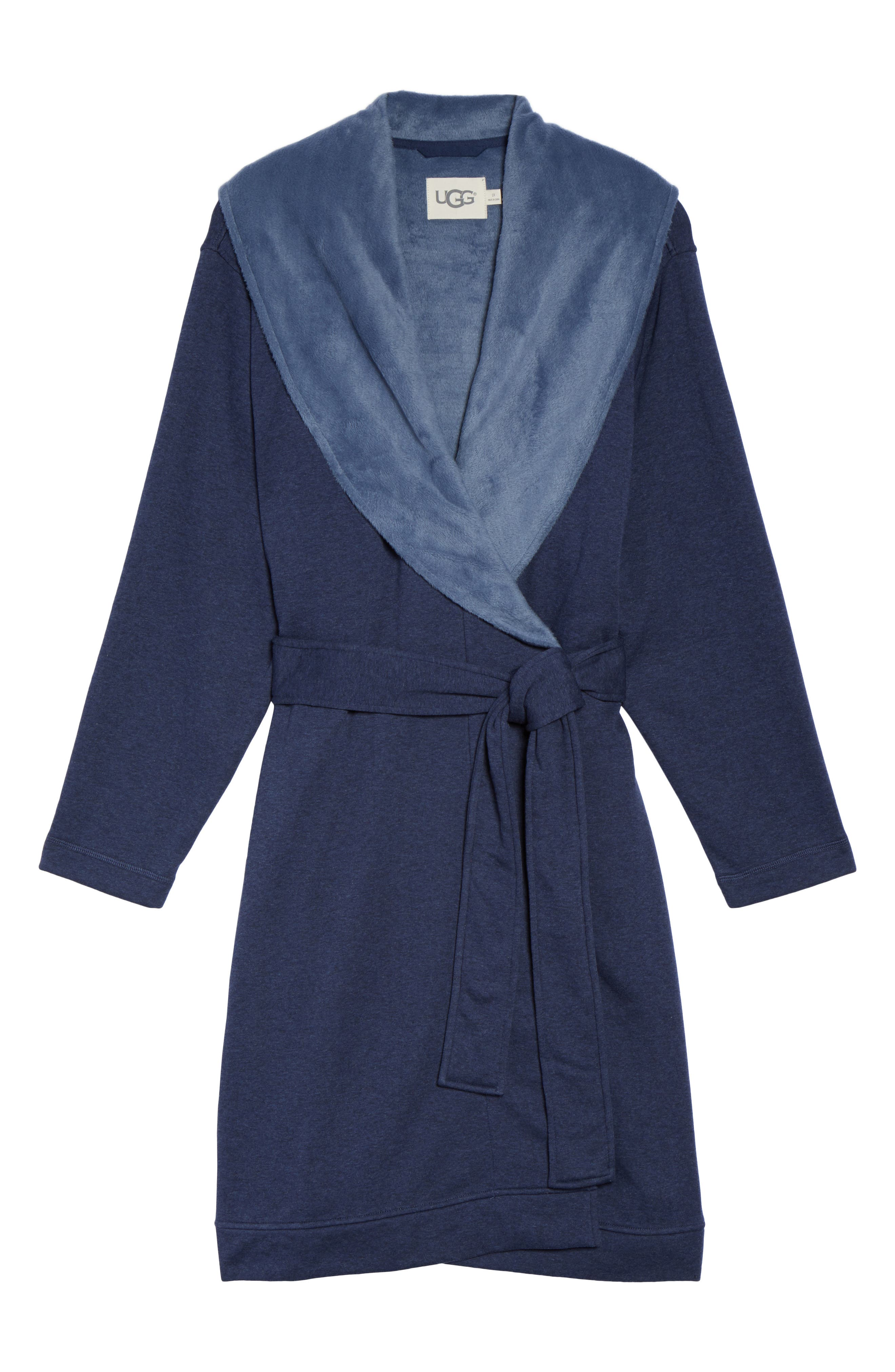 'Blanche' Plush Shawl Collar Robe,                             Alternate thumbnail 6, color,                             400