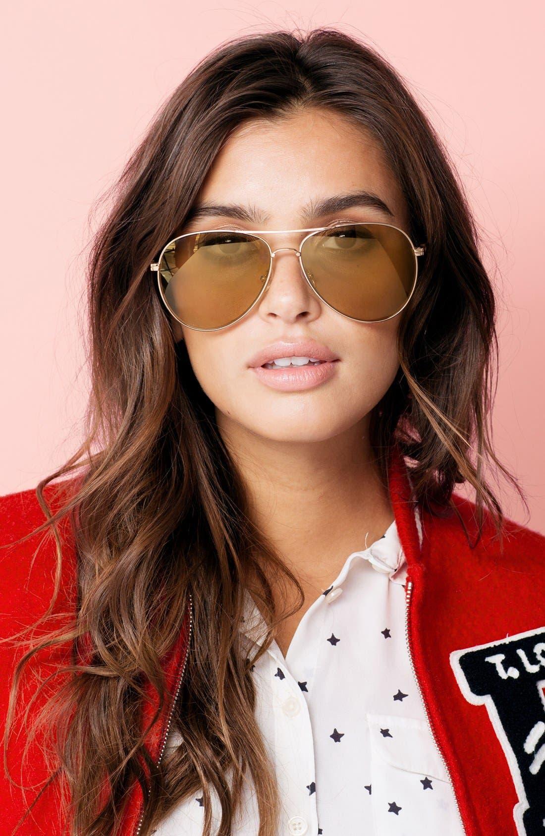 Lodi 62mm Mirrored Aviator Sunglasses,                             Alternate thumbnail 25, color,