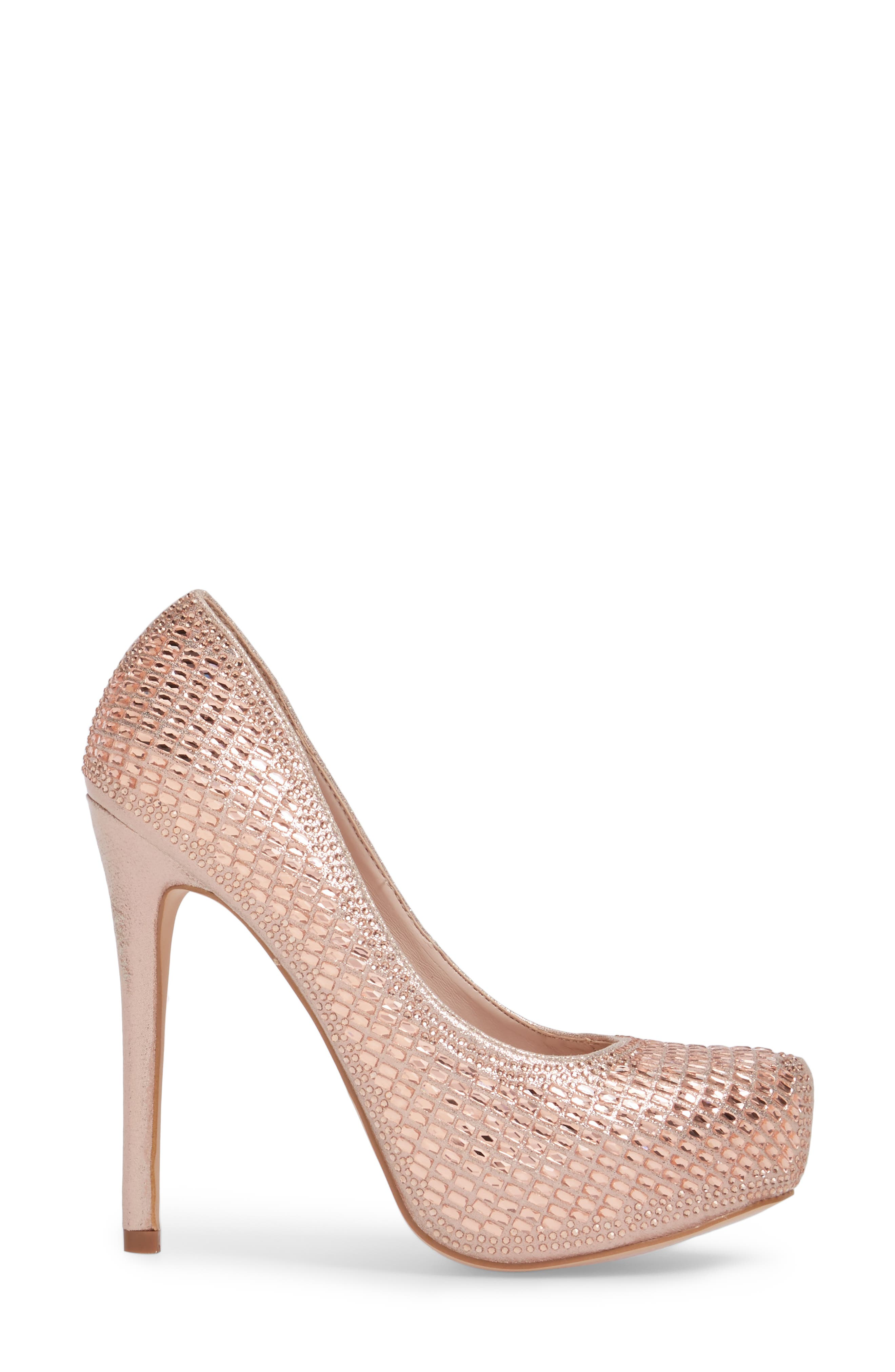 Vanna 5 Platform Pump,                             Alternate thumbnail 3, color,                             ROSE GOLD
