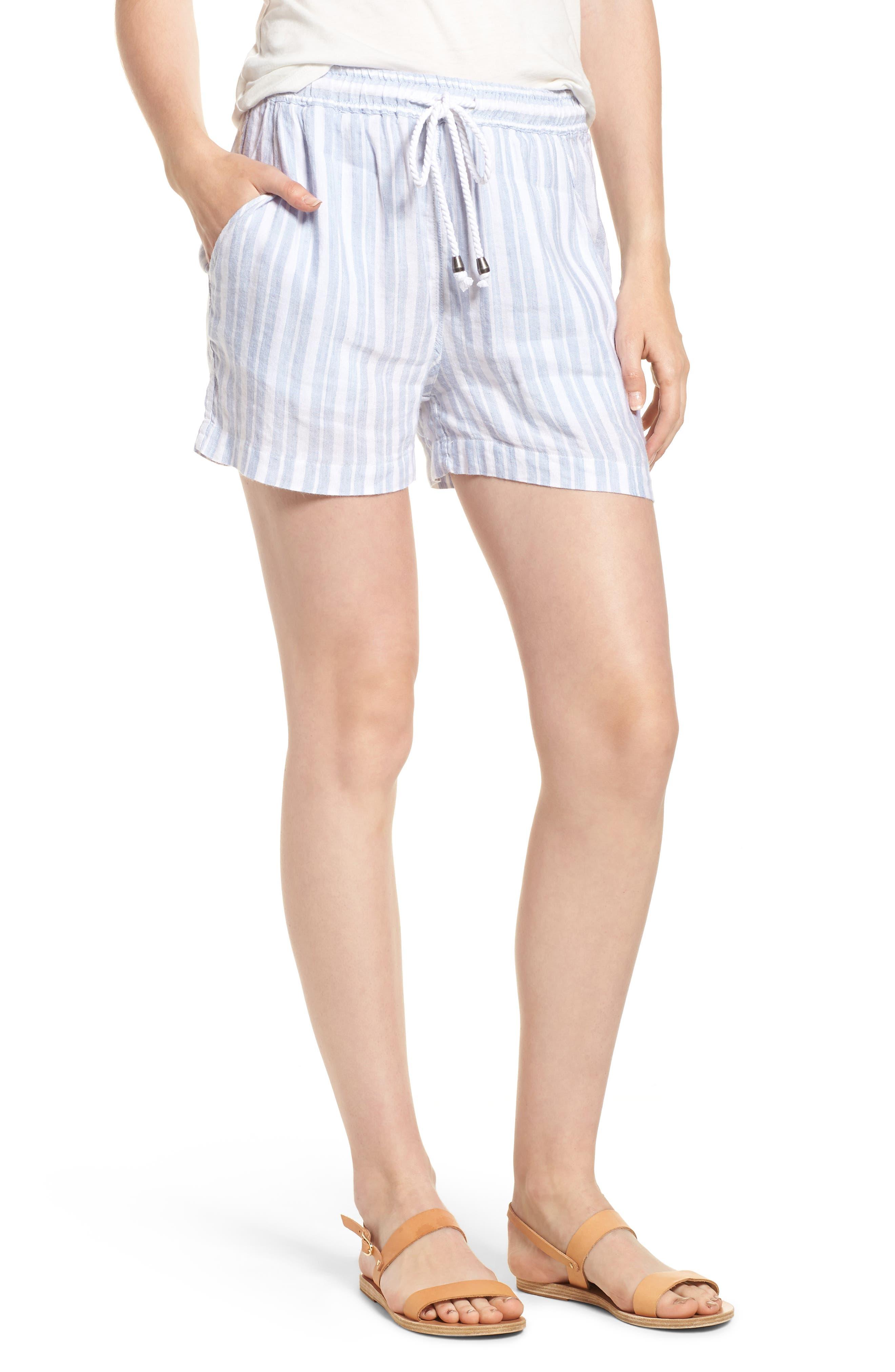 Brea Shorts,                         Main,                         color, HOLLAND STRIPE
