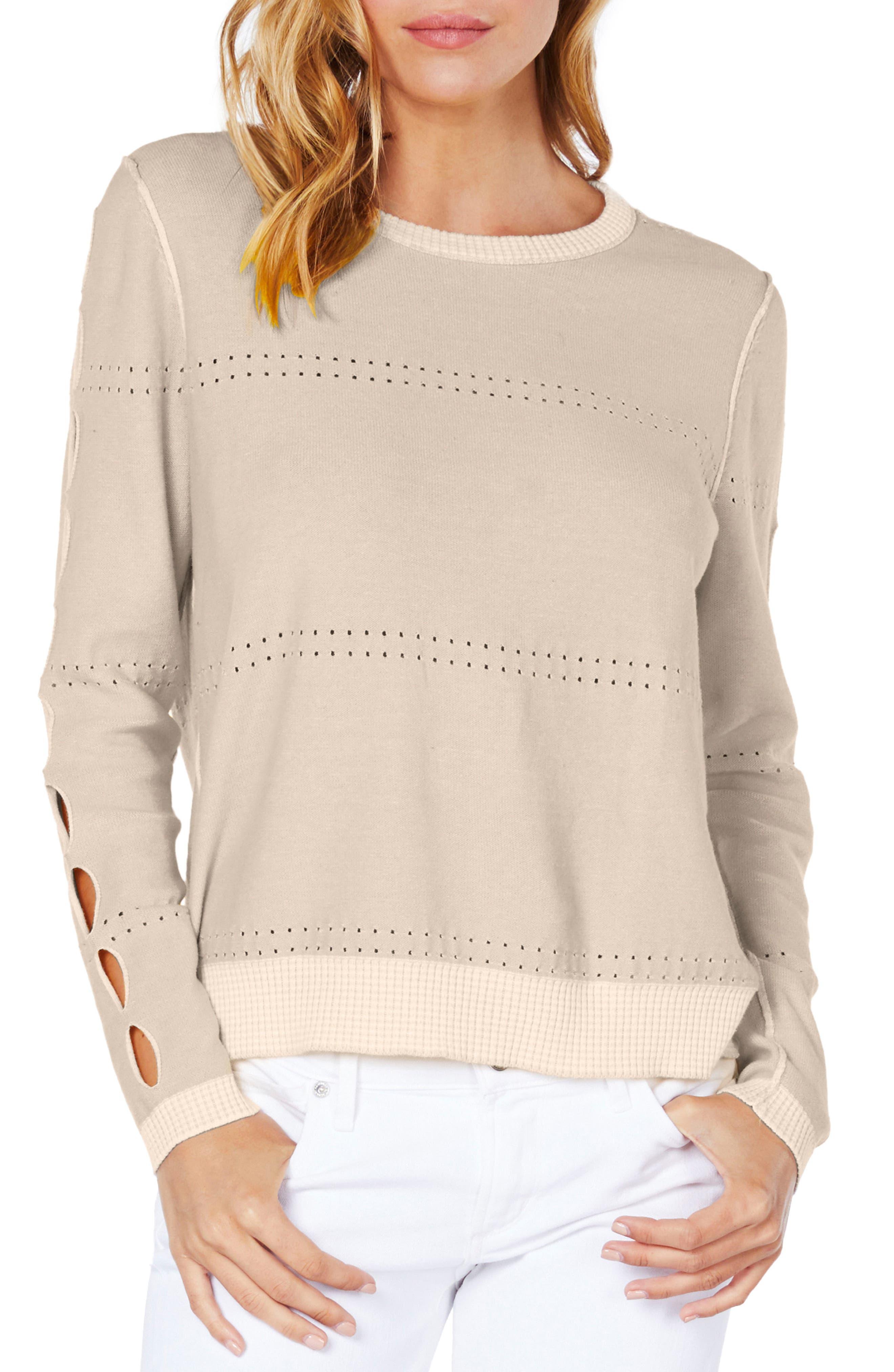 Slit Sleeve Reversible Sweater,                             Alternate thumbnail 5, color,
