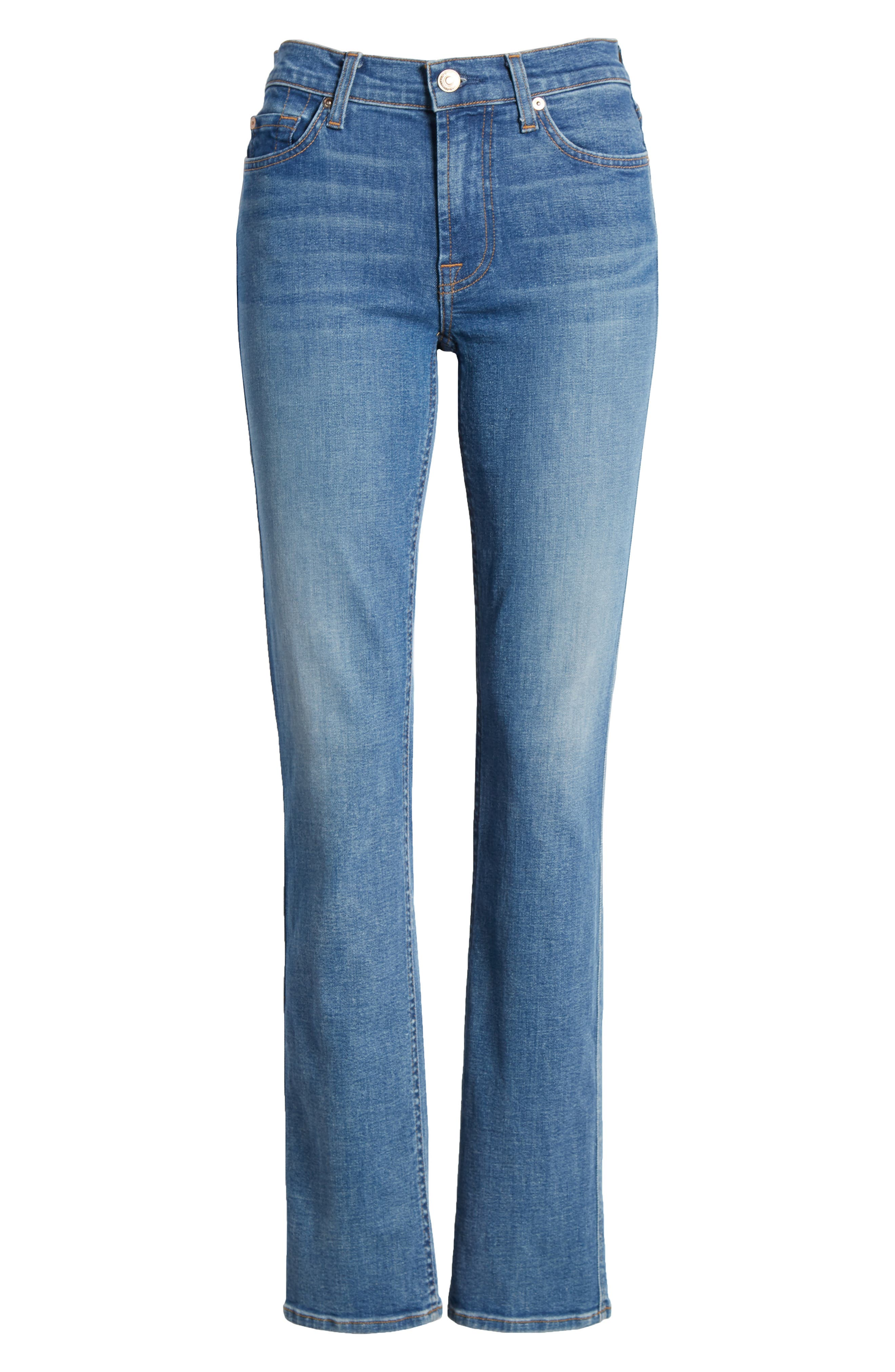 Dylan Straight Leg Jeans,                             Alternate thumbnail 7, color,                             400